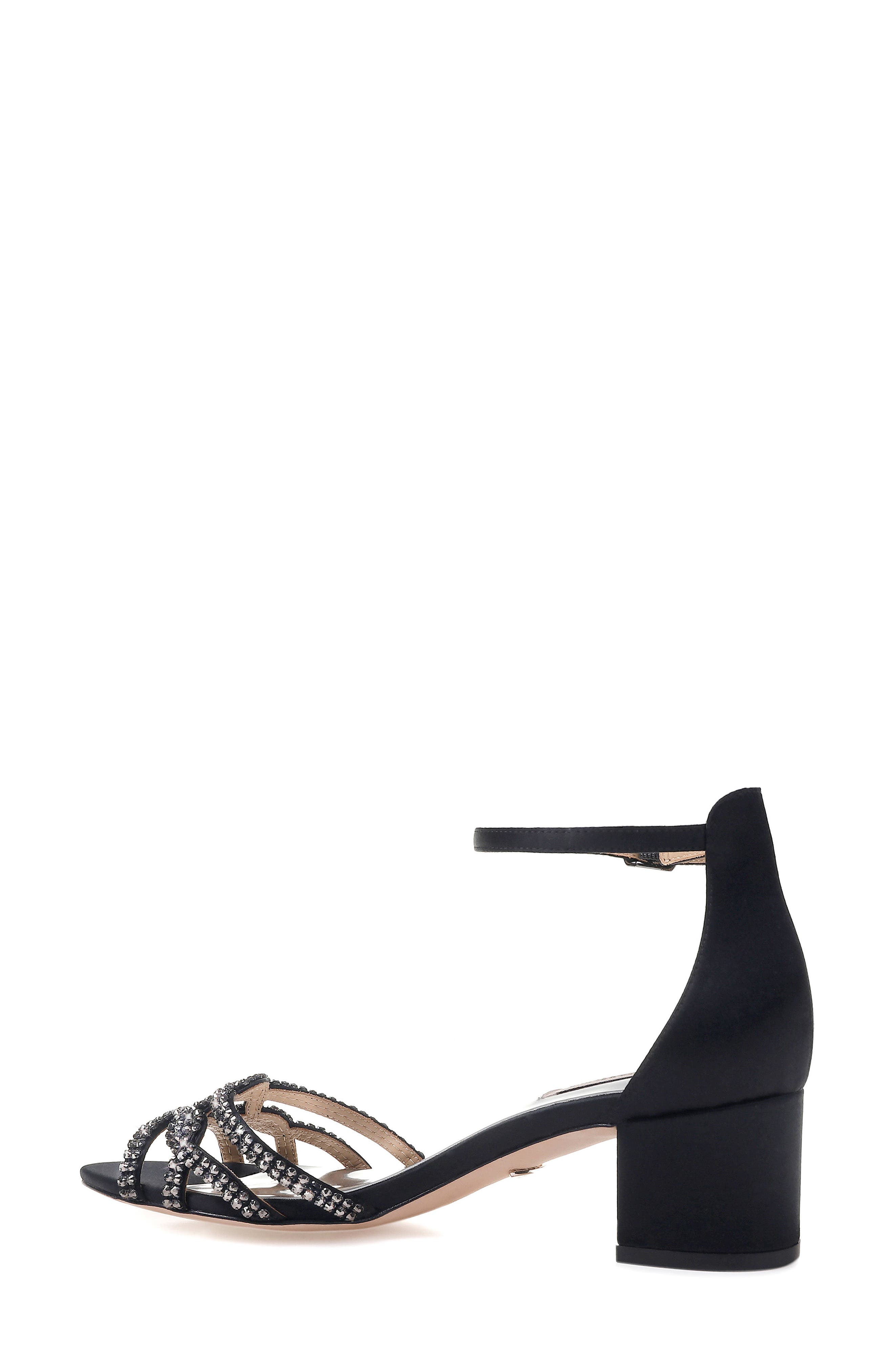 Badgley Mischka Sonya Block Heel Sandal,                             Alternate thumbnail 2, color,                             015
