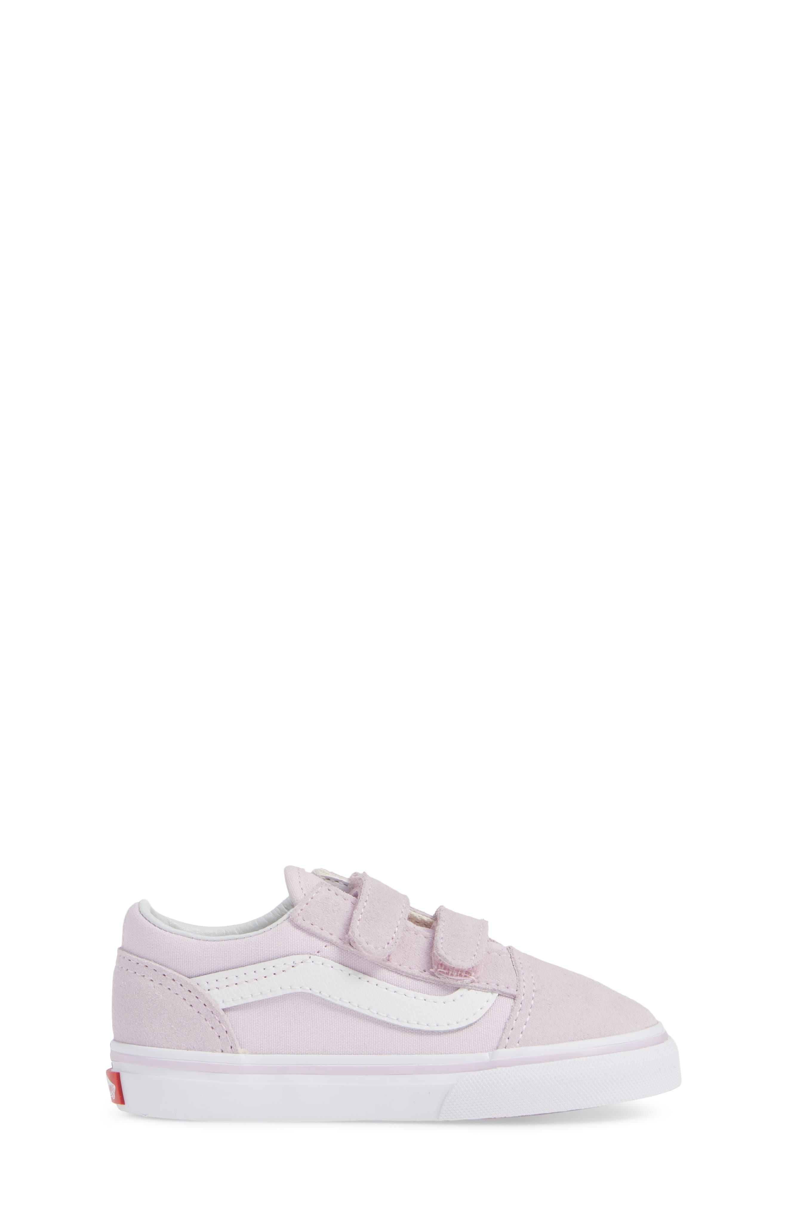 'Old Skool V' Sneaker,                             Alternate thumbnail 3, color,                             LAVENDER FOG/ TRUE WHITE