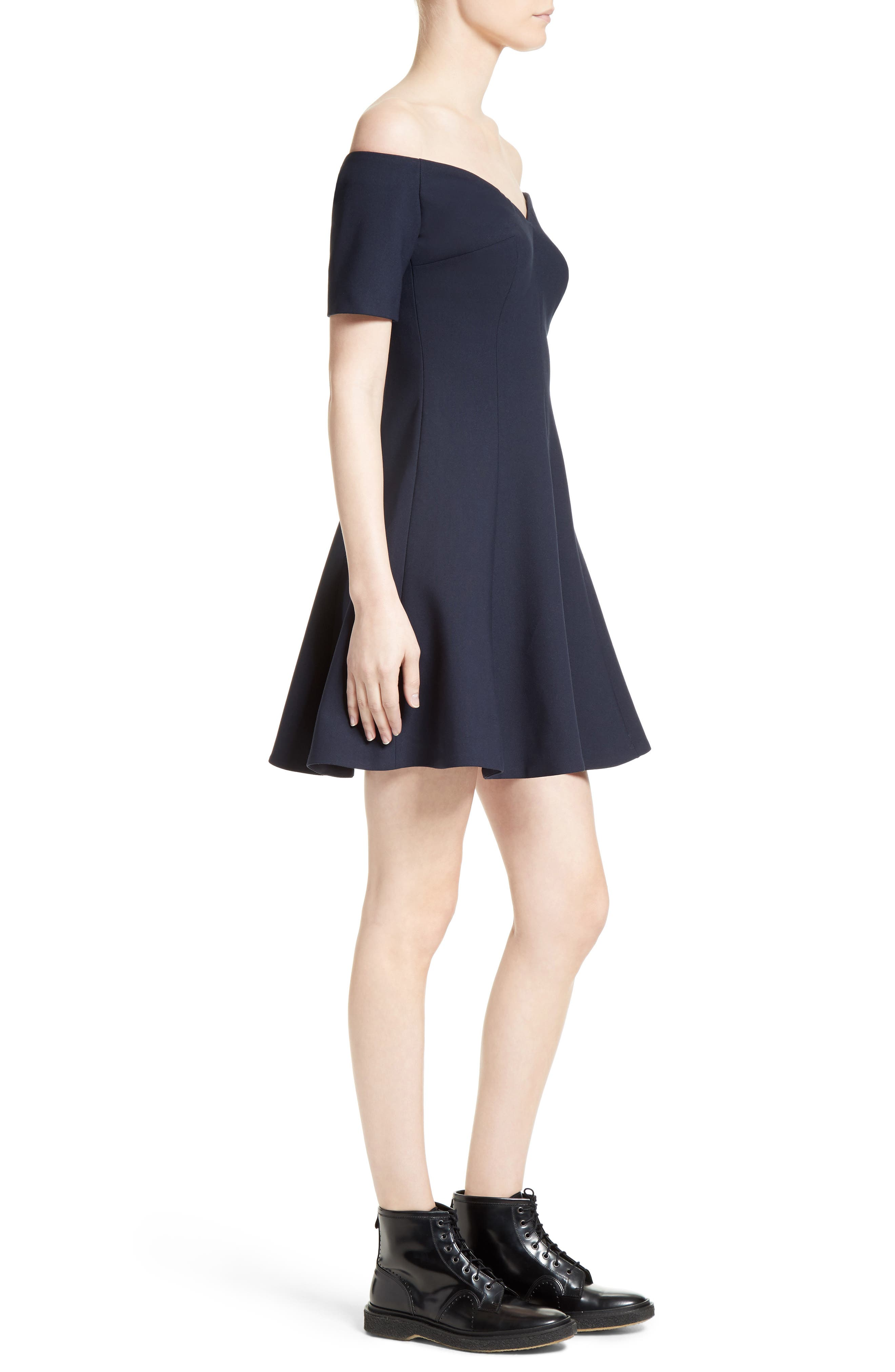 Kenna Fit & Flare Dress,                             Alternate thumbnail 3, color,                             410