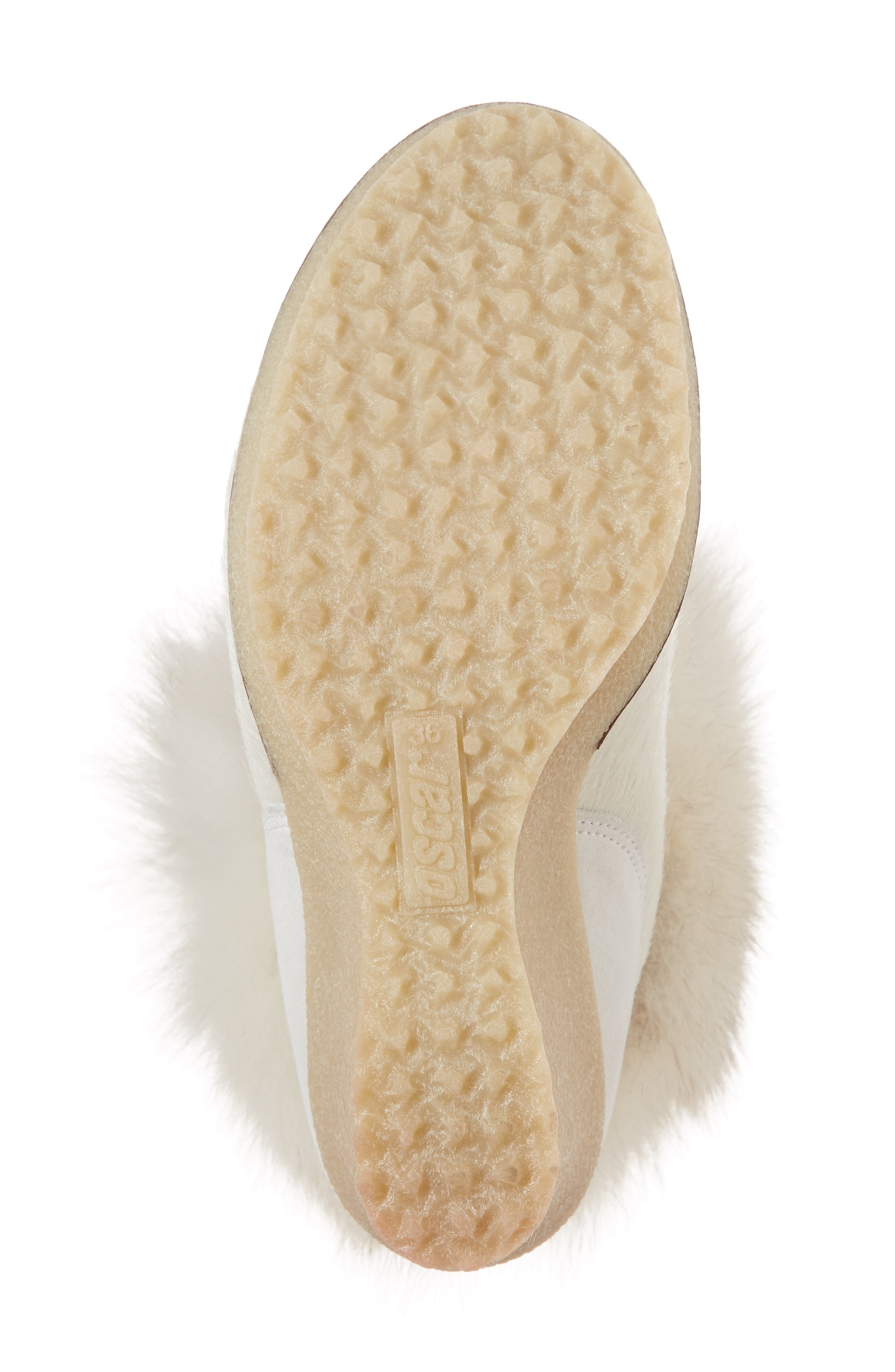 Angelina Genuine Fox Fur Wedge Boot,                             Alternate thumbnail 22, color,