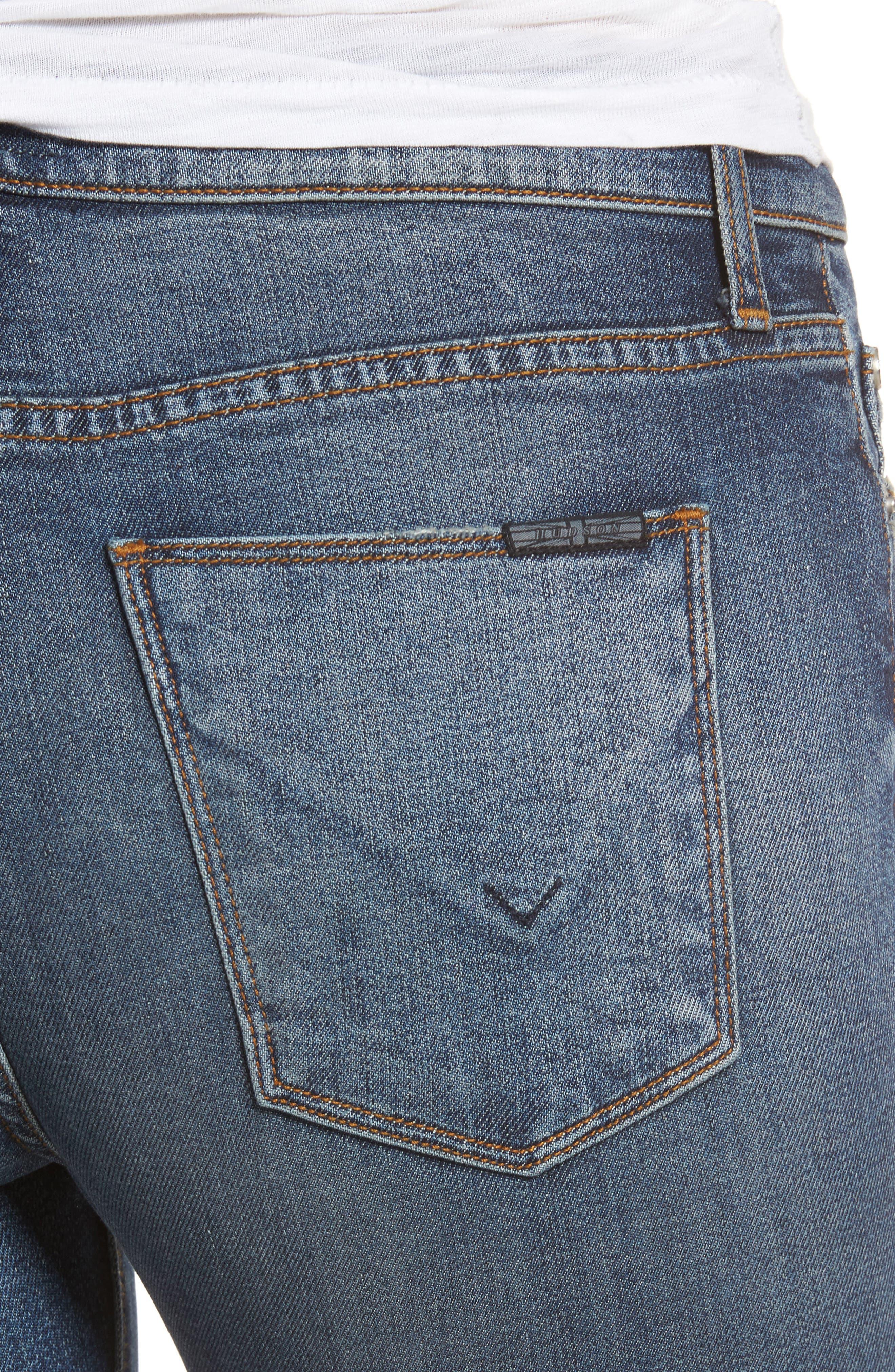 Barbara High Waist Skinny Jeans,                             Alternate thumbnail 4, color,                             429