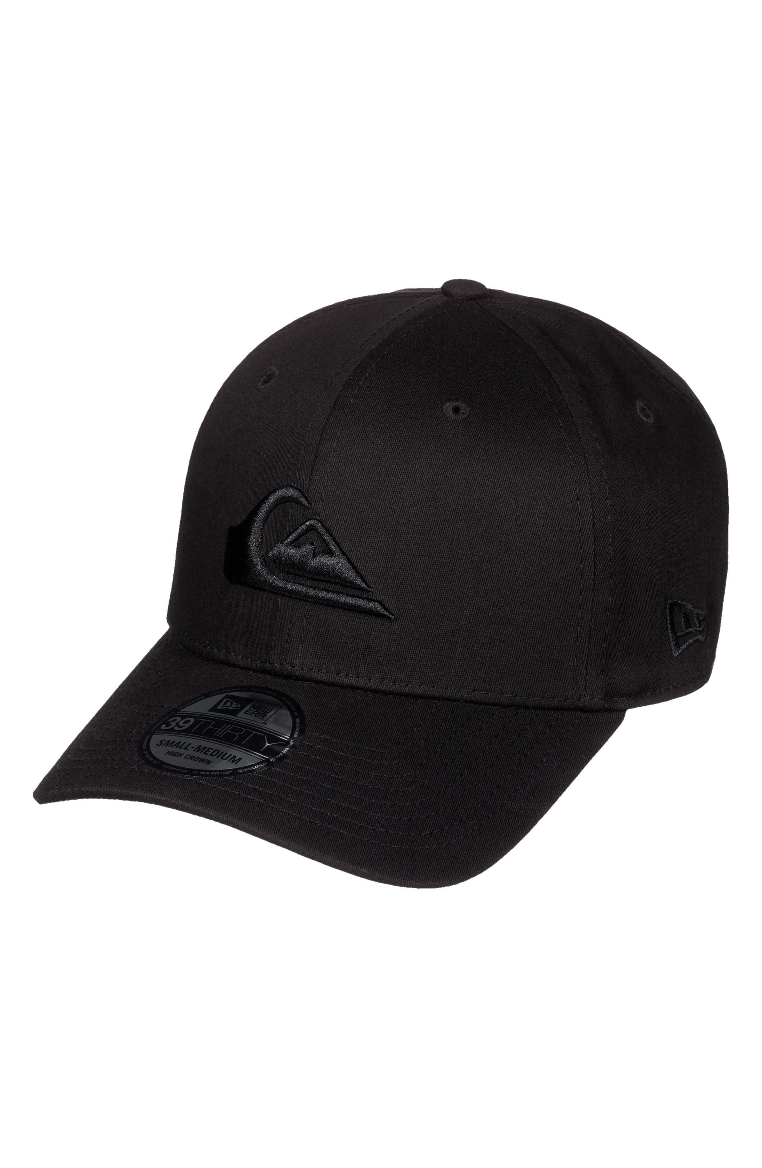 Mountain & Wave Baseball Cap,                             Main thumbnail 1, color,                             BLACK