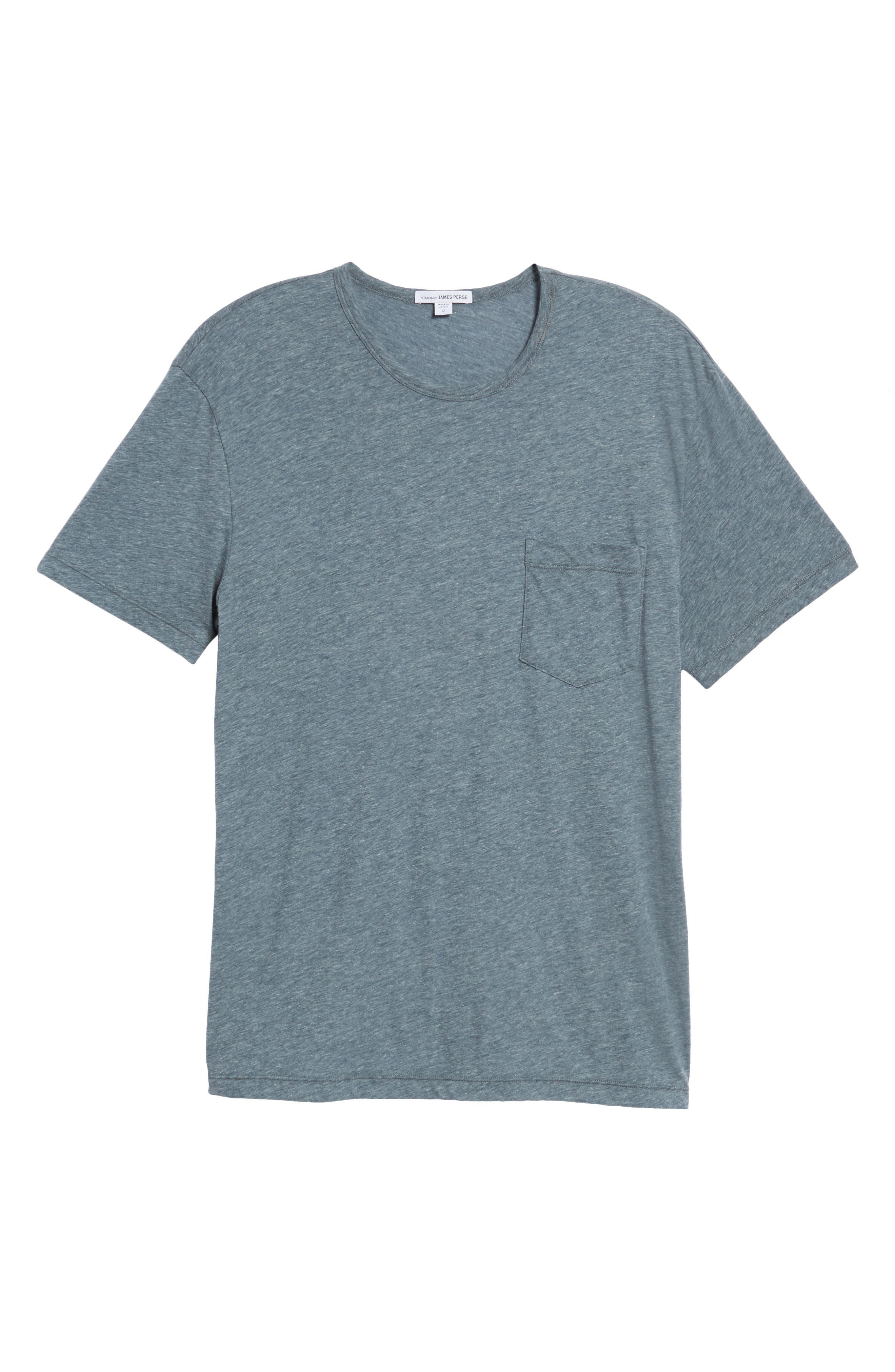 Slubbed Cotton & Linen Pocket T-Shirt,                             Alternate thumbnail 17, color,