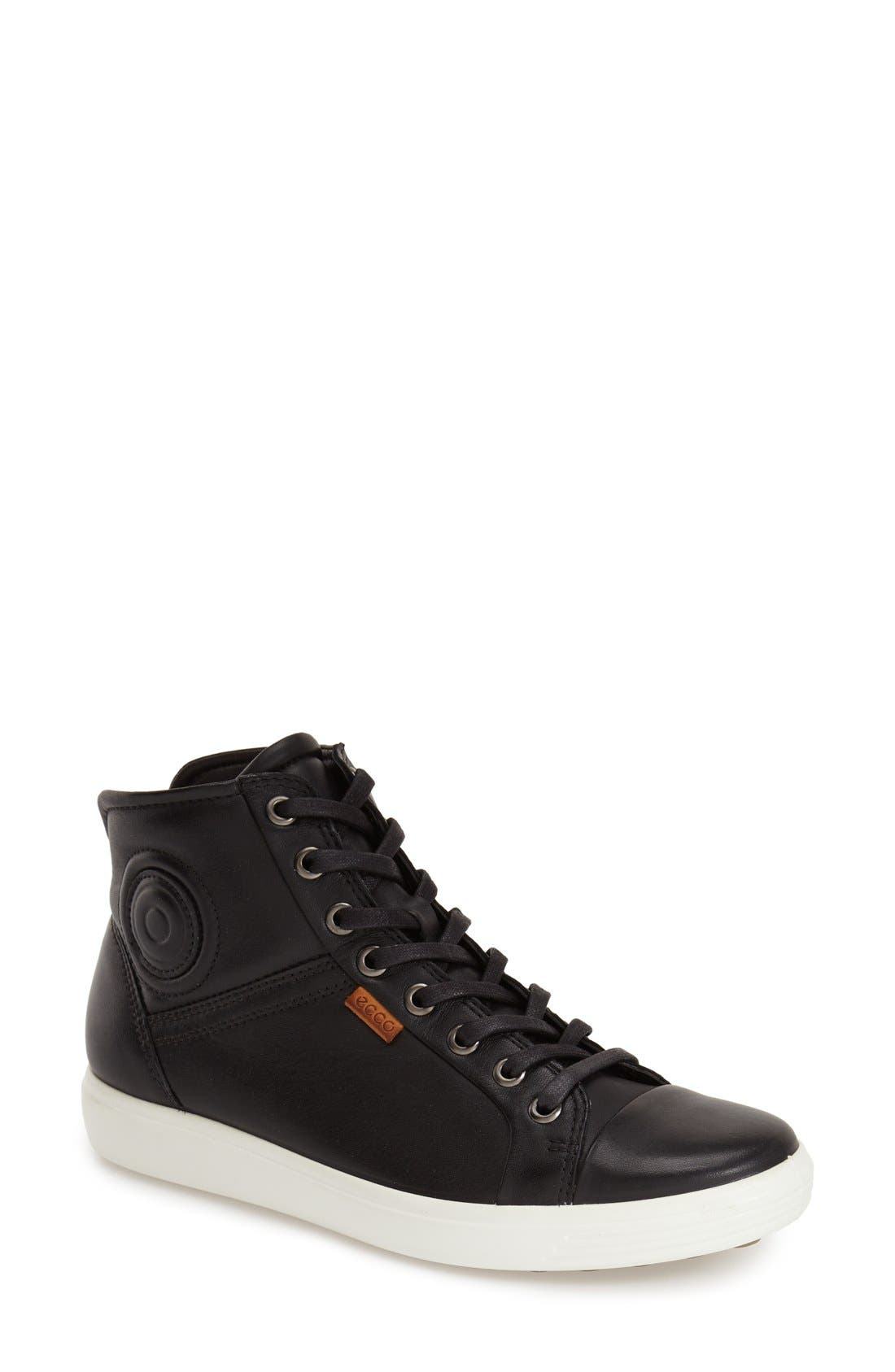 'Soft 7' High Top Sneaker,                             Main thumbnail 1, color,                             001