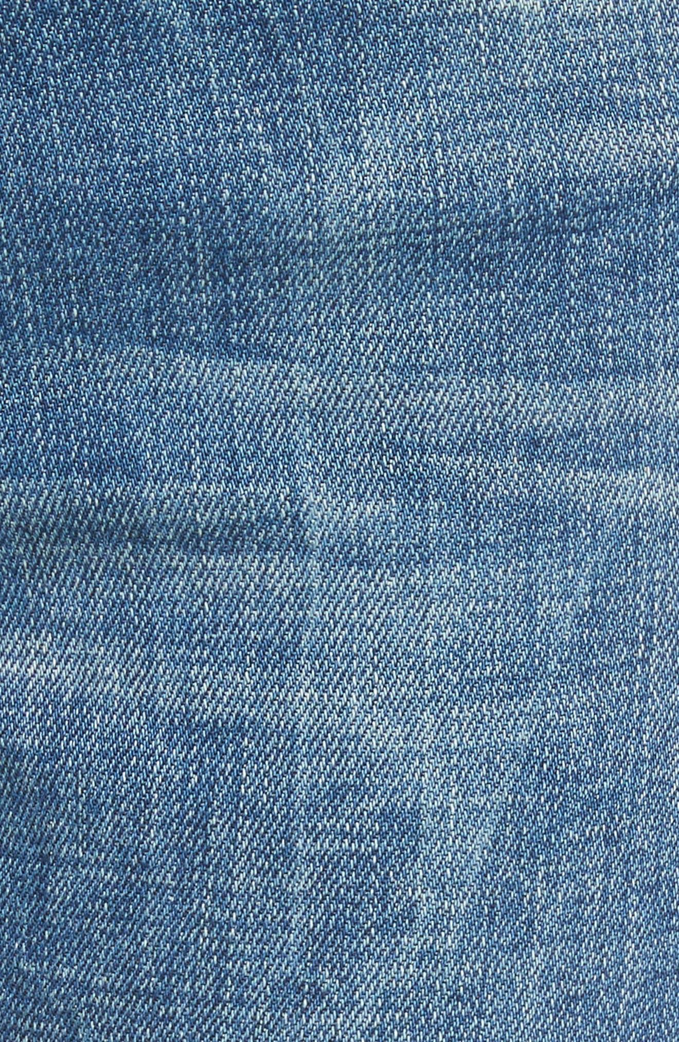 Le High Raw Edge Straight Jeans,                             Alternate thumbnail 5, color,                             401