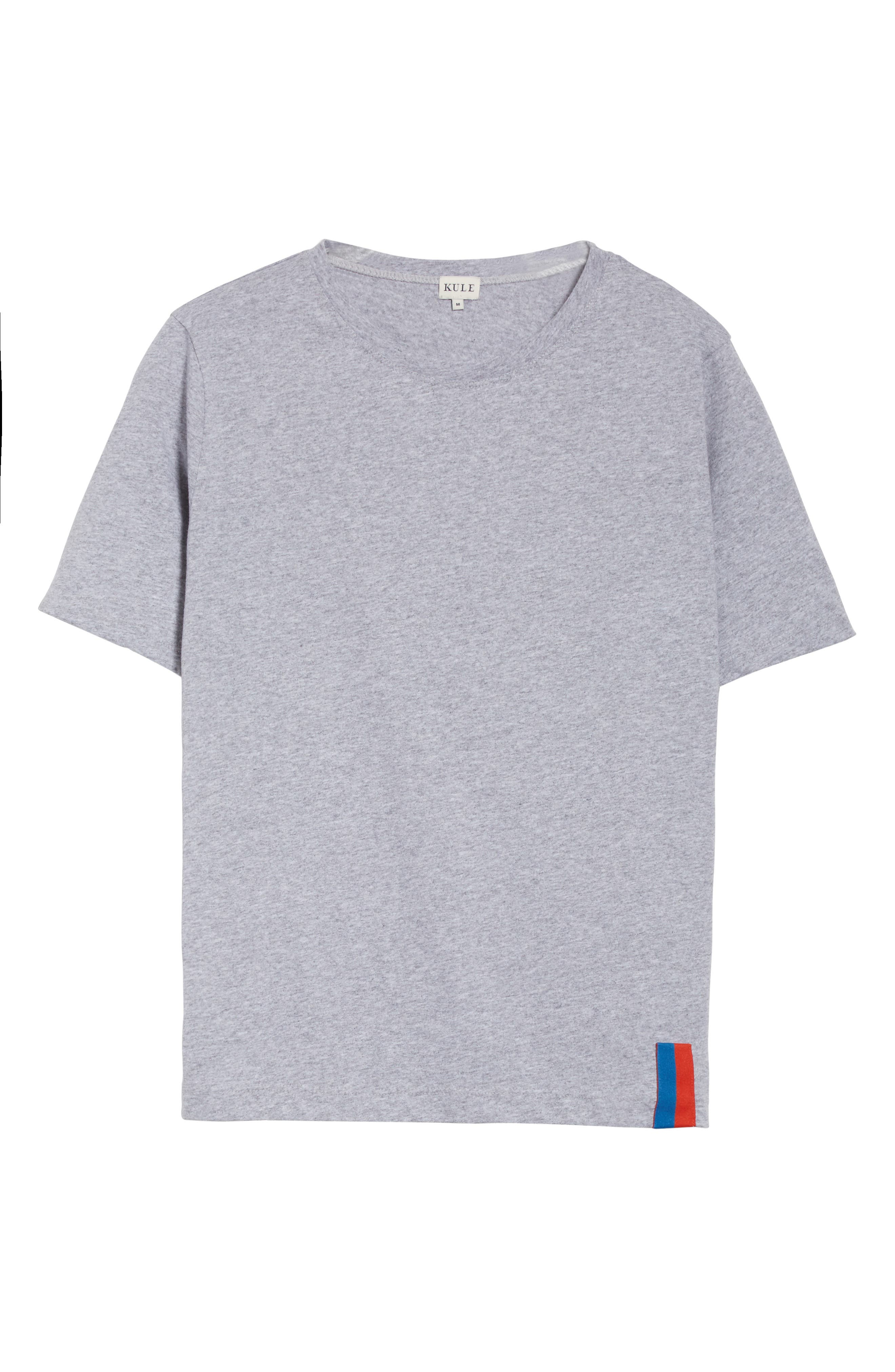 The Modern Cotton Tee,                             Alternate thumbnail 6, color,                             HEATHER GREY
