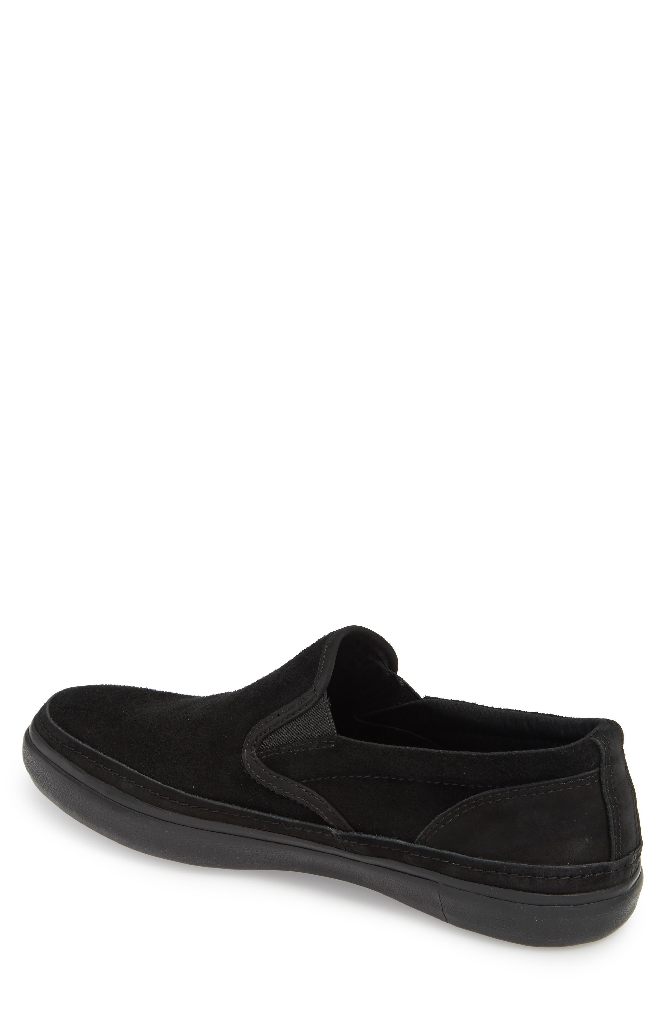 Suede Jet Slip-On Sneaker,                             Alternate thumbnail 2, color,                             BLACK SUEDE