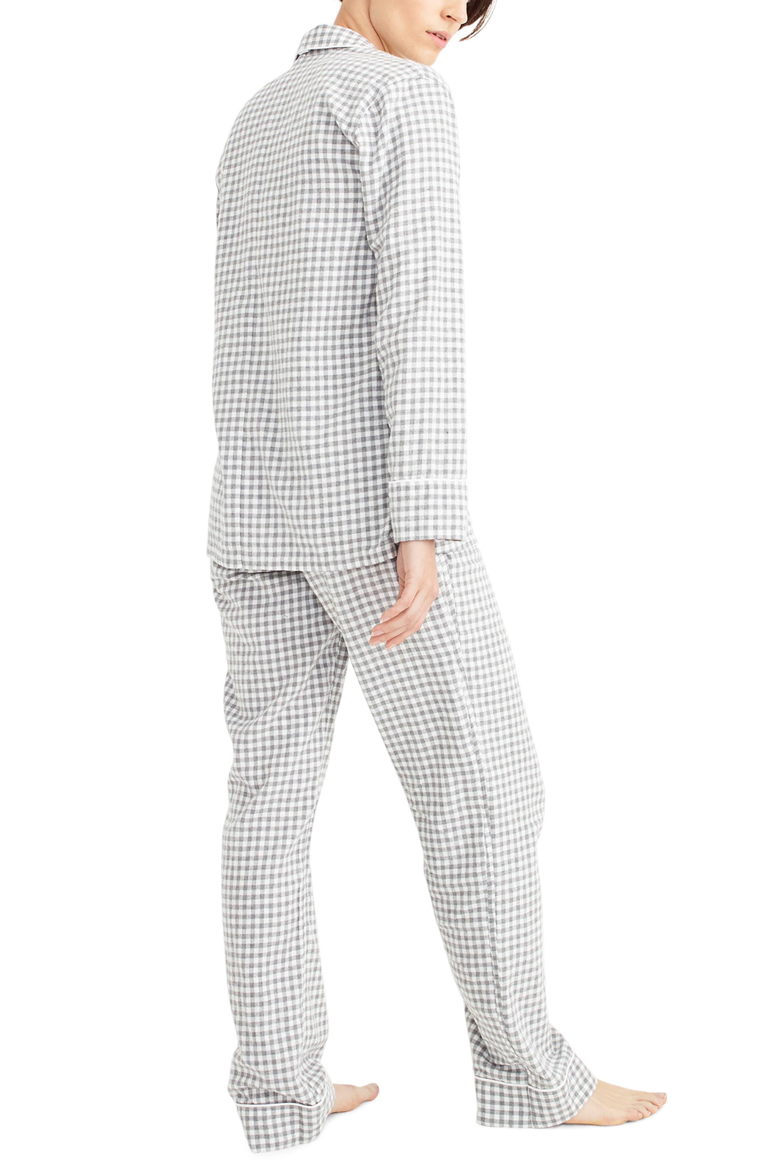 Gingham Flannel Pajamas,                             Alternate thumbnail 2, color,                             090