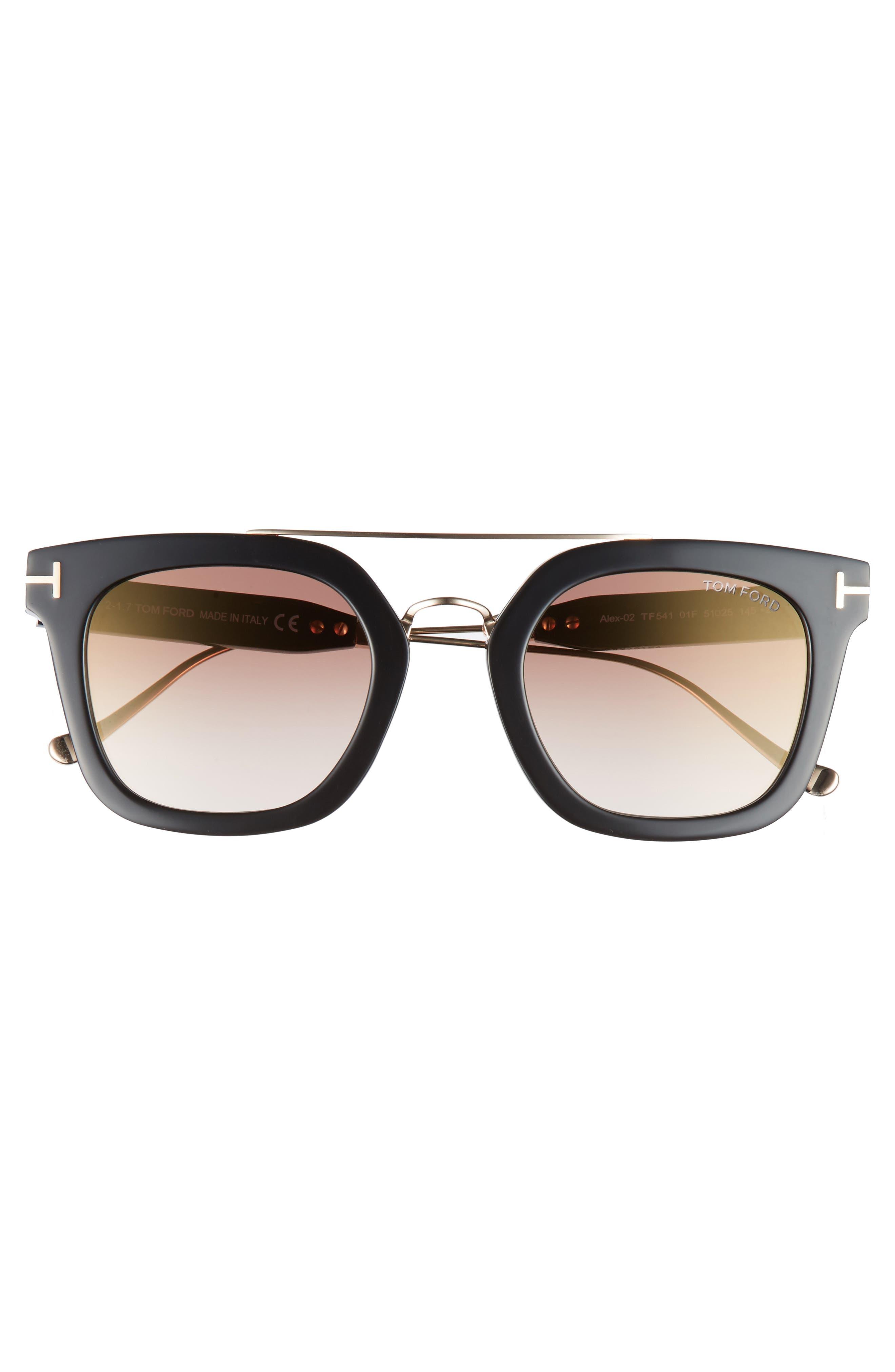 Alex 51mm Sunglasses,                             Alternate thumbnail 3, color,                             001