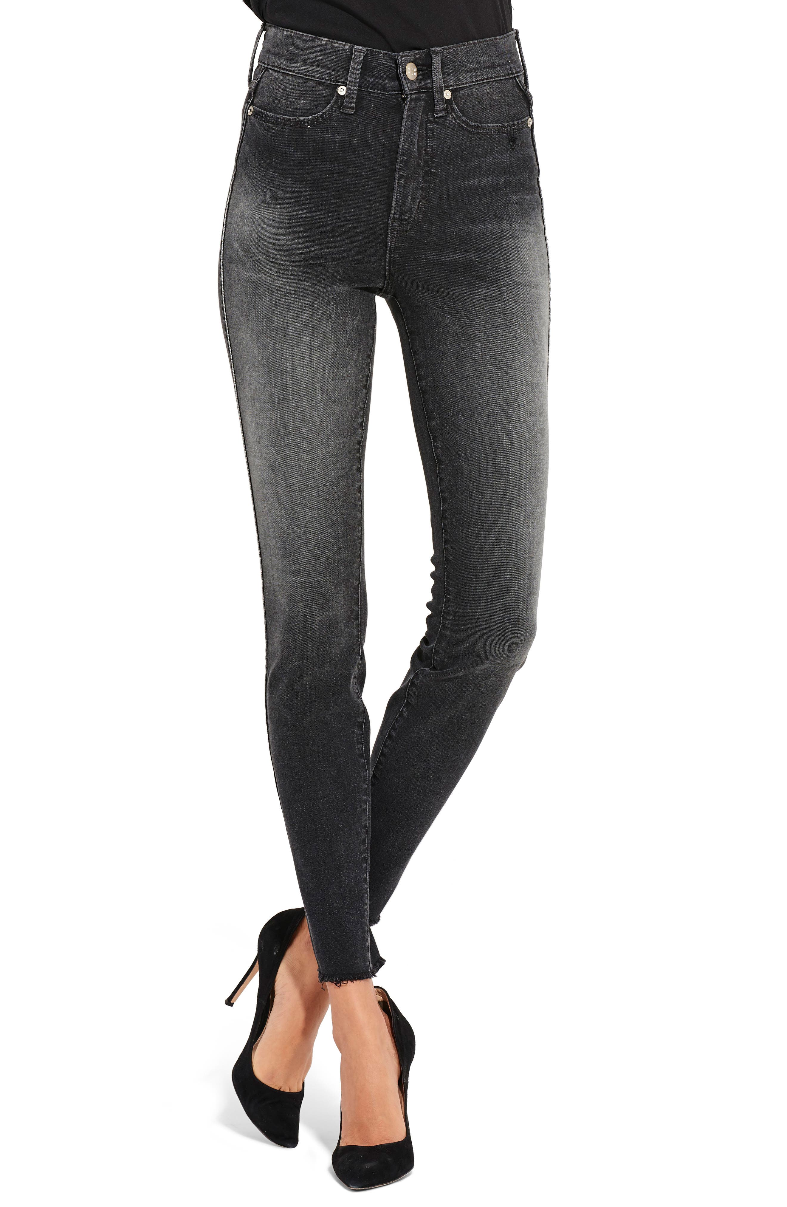 AYR The Riser Skinny Jeans, Main, color, 400