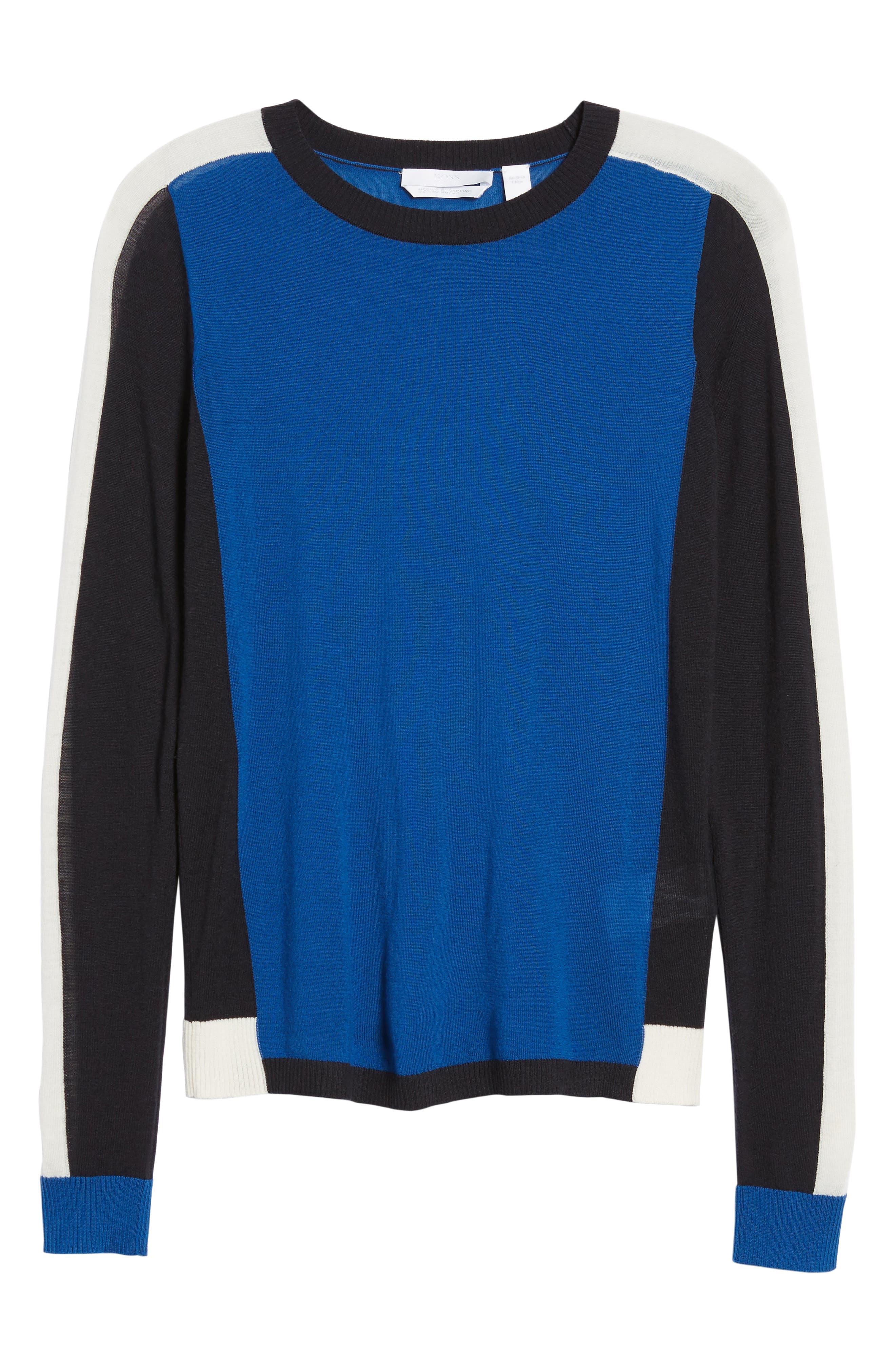 Ferda Colorblock Wool Sweater,                             Alternate thumbnail 6, color,                             471