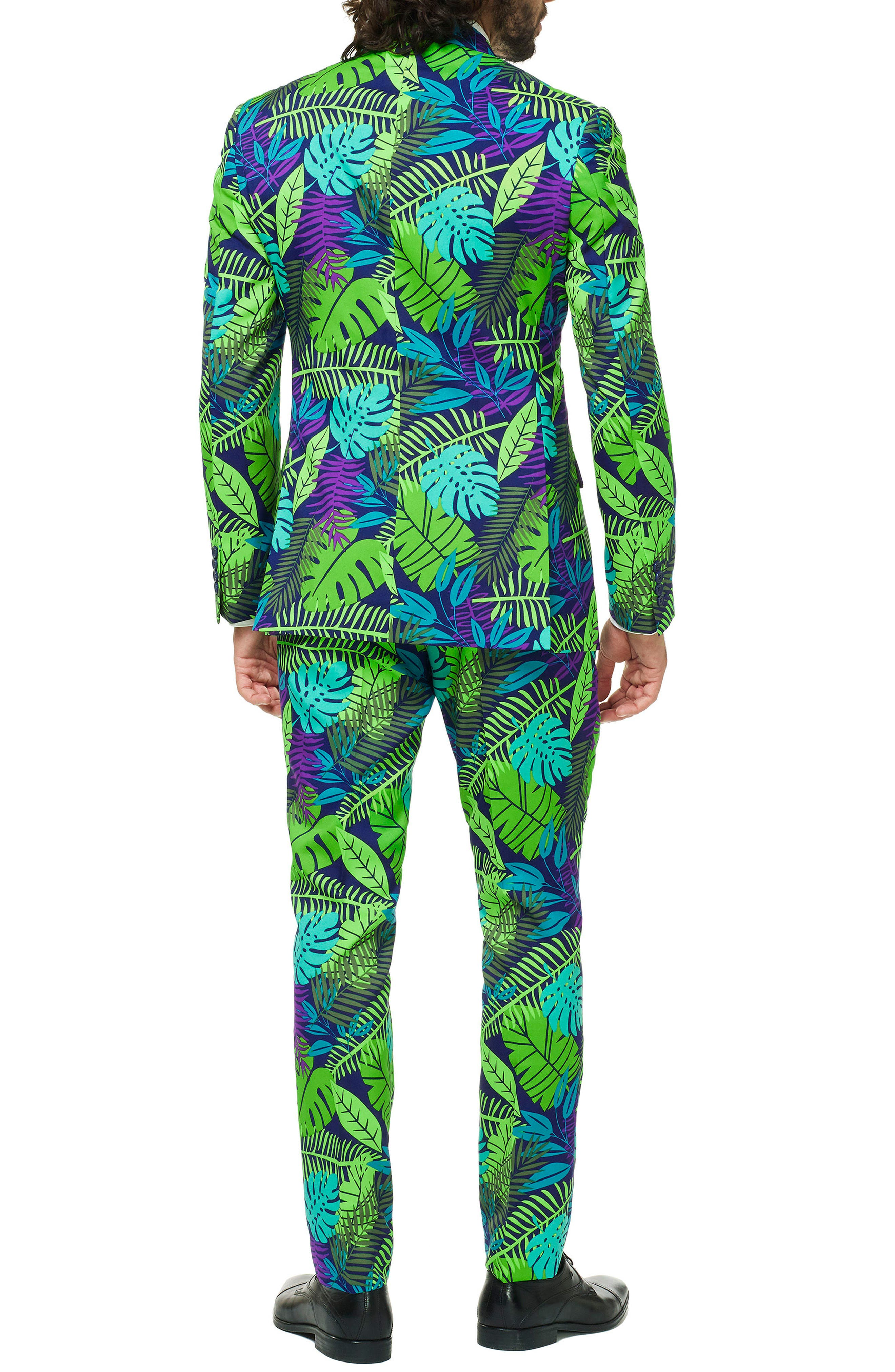 Juicy Jungle Trim Fit two-Piece Suit with Tie,                             Alternate thumbnail 2, color,                             MISCELLANEOUS
