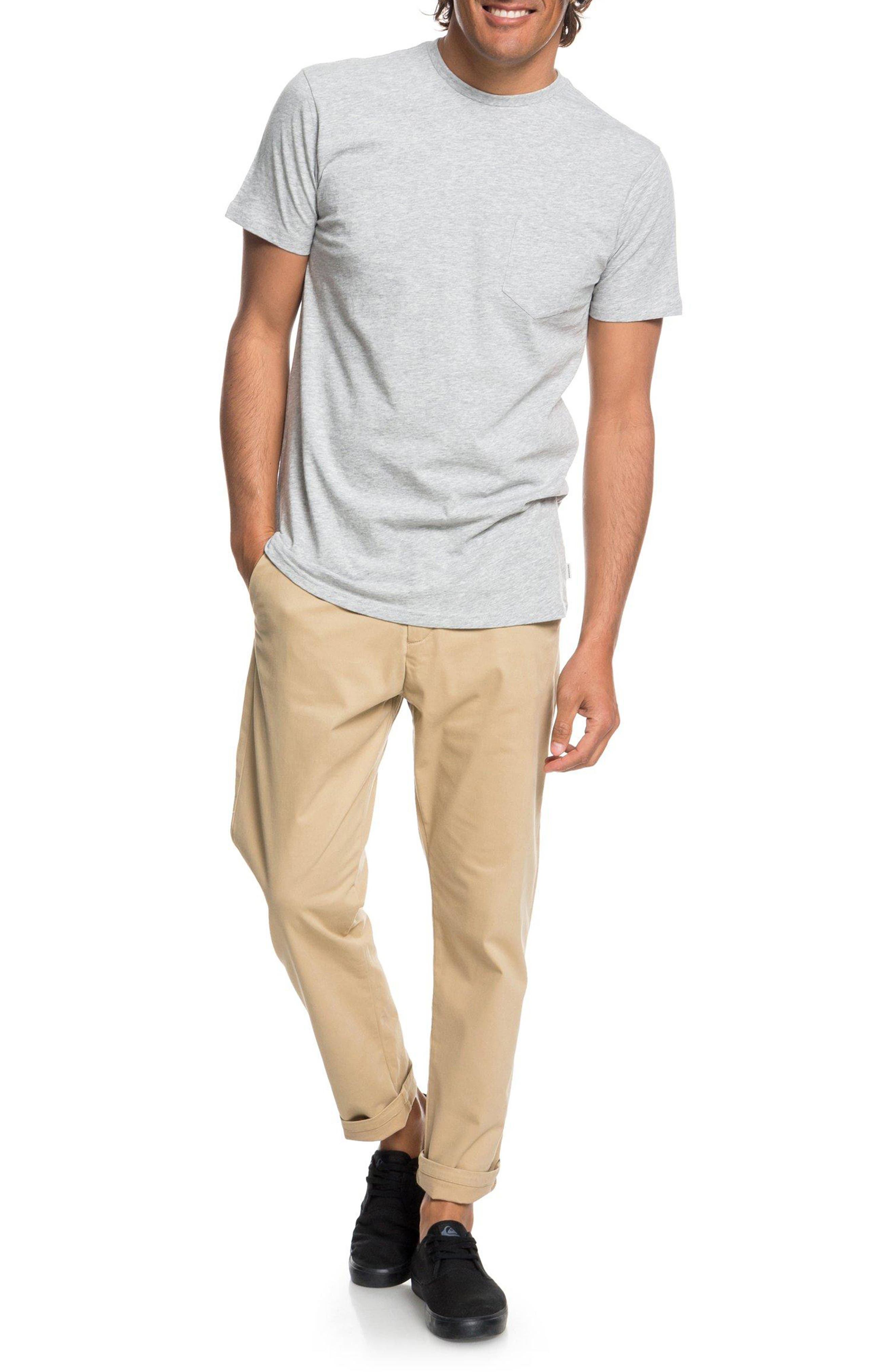 Slim Fit Chinos,                             Alternate thumbnail 5, color,                             PLAGE