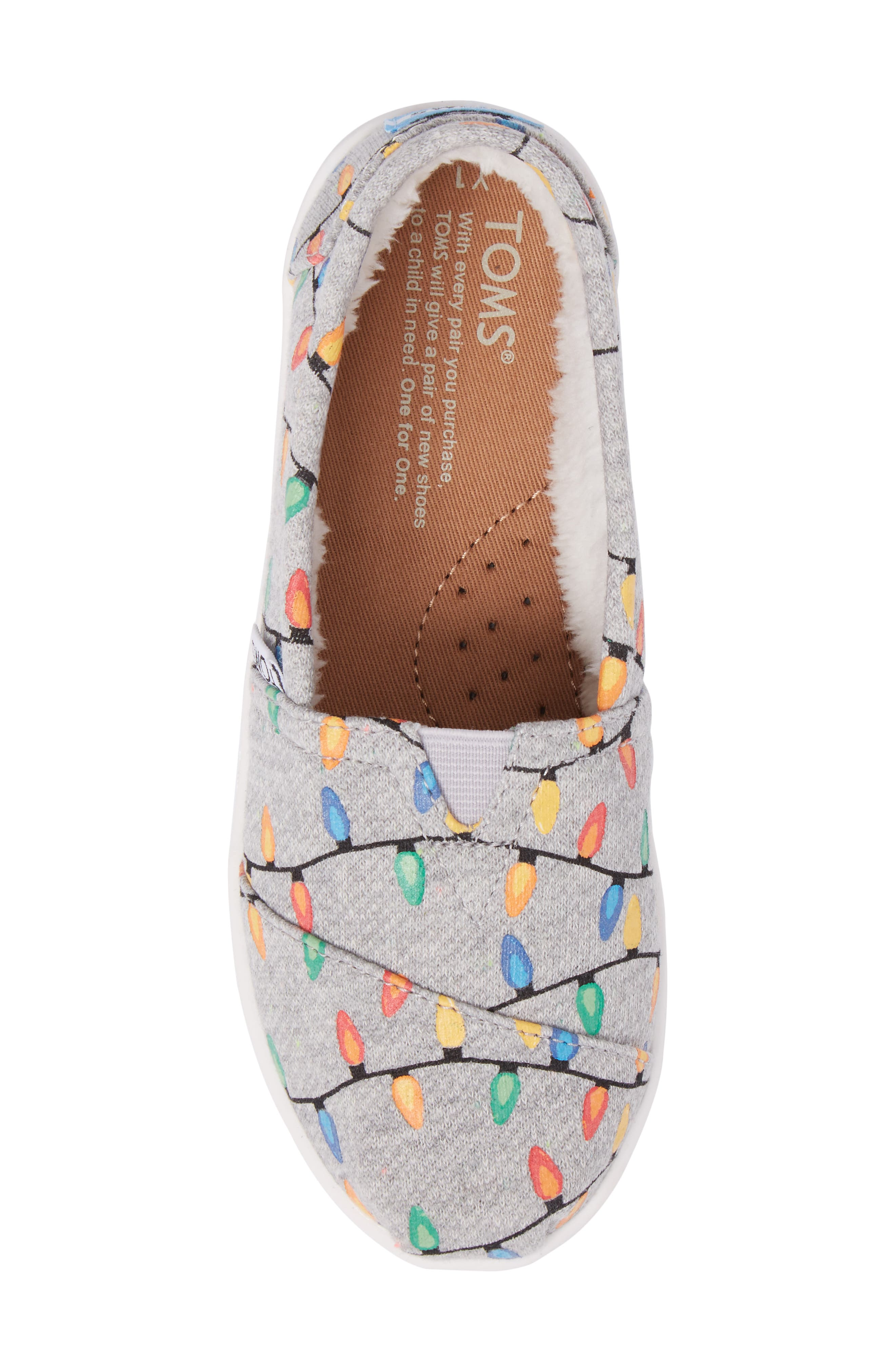 Classic Glow in the Dark Christmas Lights Slip-On,                             Alternate thumbnail 5, color,                             250
