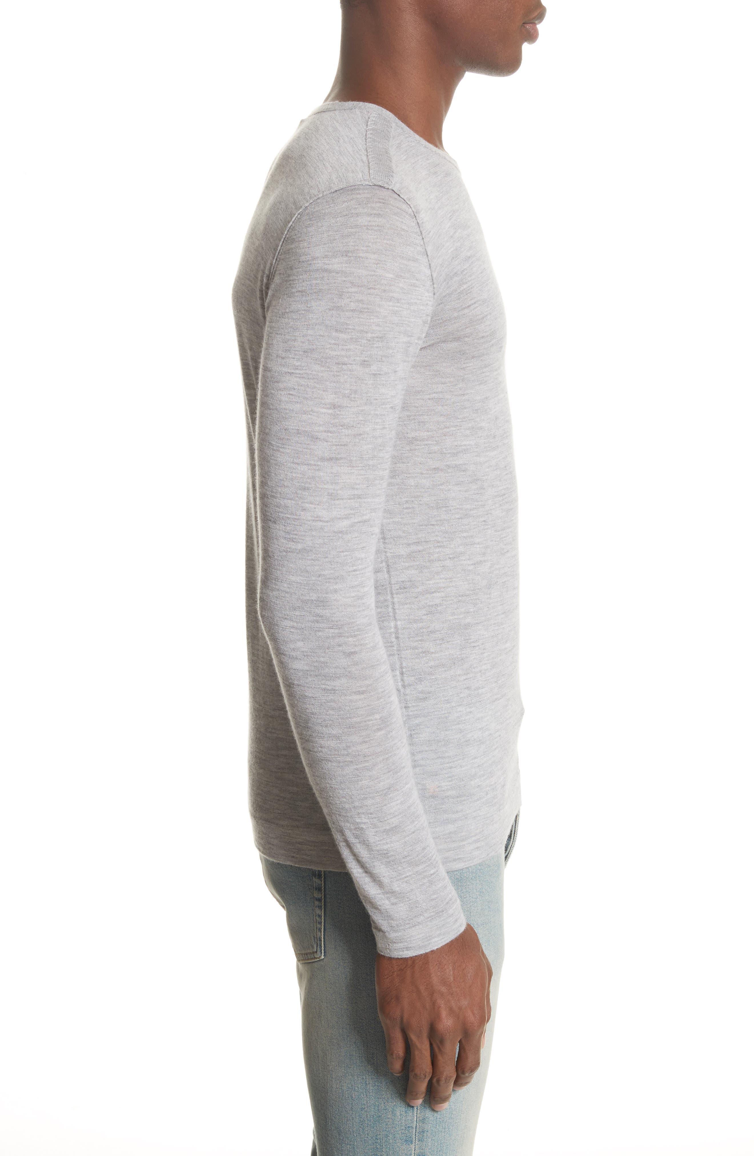 Cashmere Crewneck Sweater,                             Alternate thumbnail 3, color,                             055