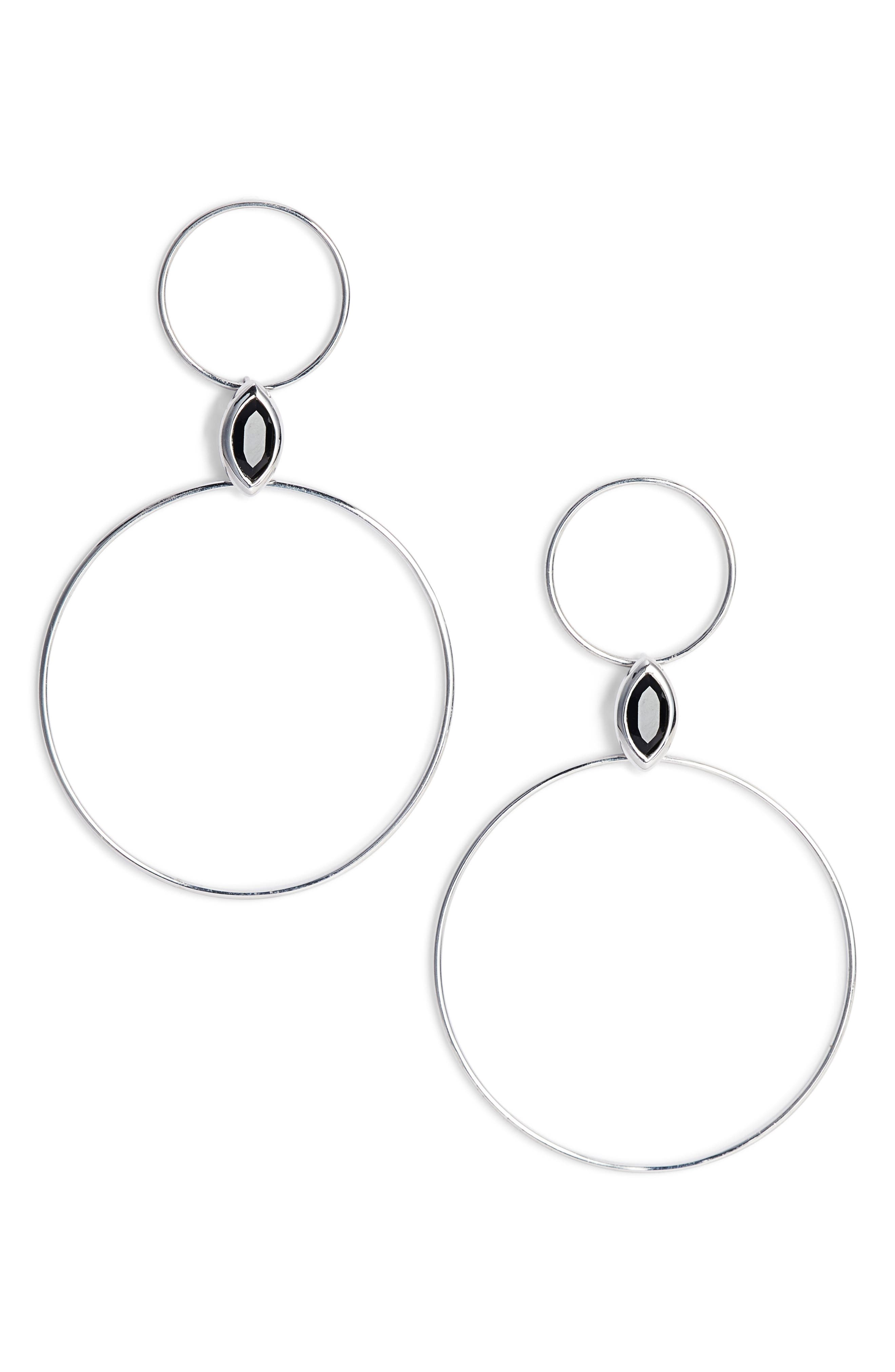 Double Circle Drop Earrings,                         Main,                         color, 040