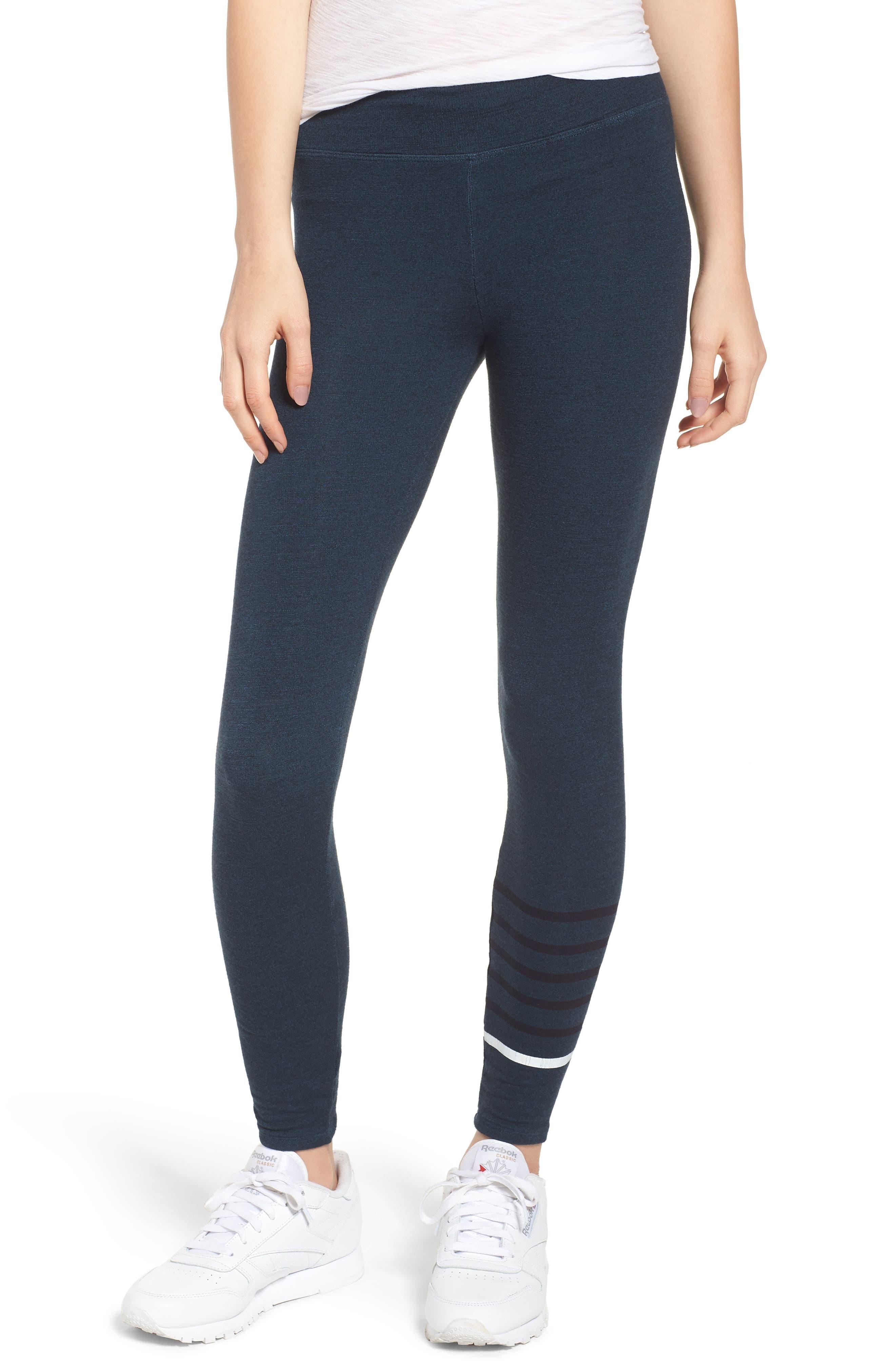 Stripe Yoga Pants,                             Main thumbnail 1, color,                             STORM