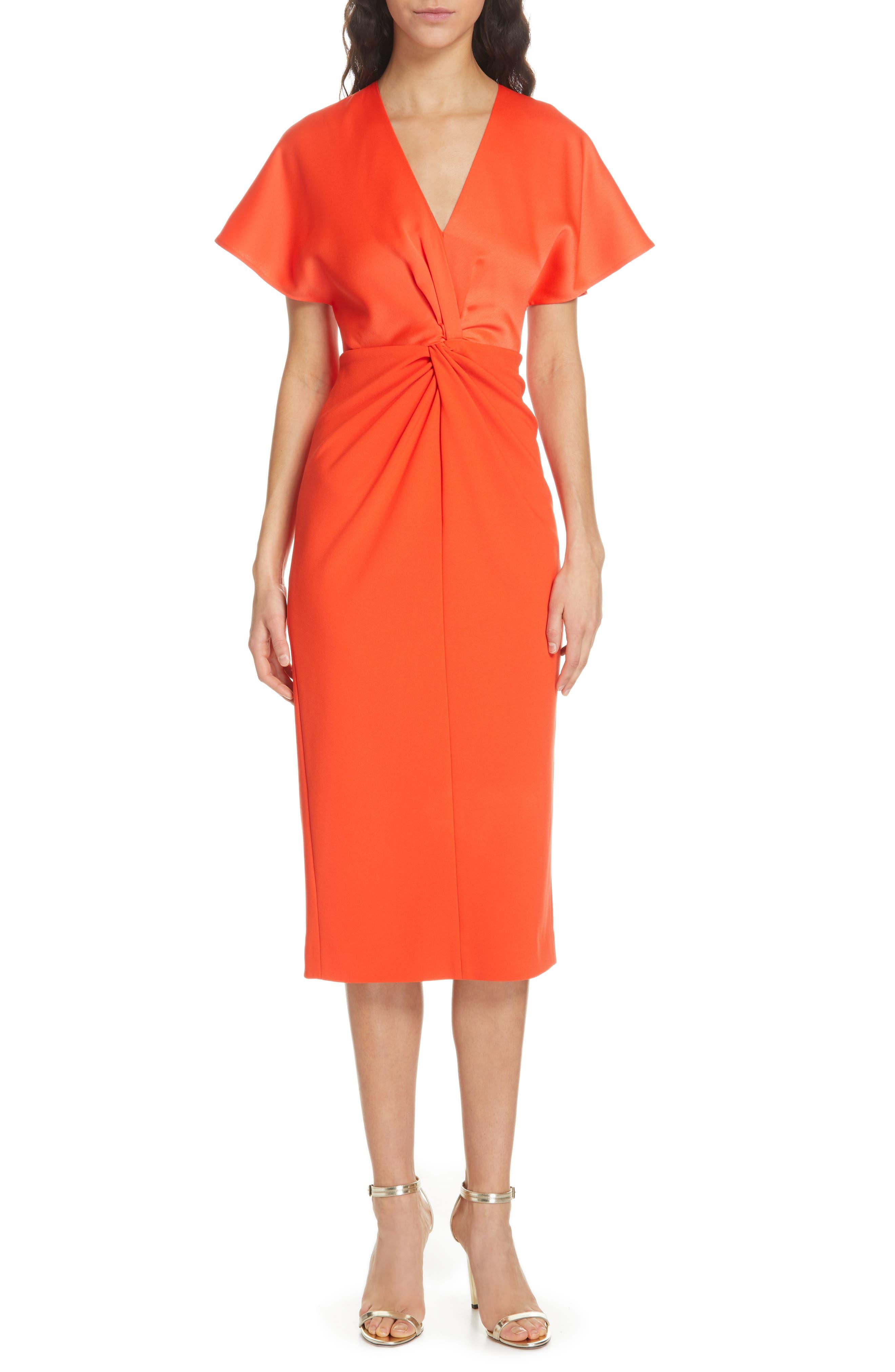Ted Baker London Ellame Sheath Dress, Orange