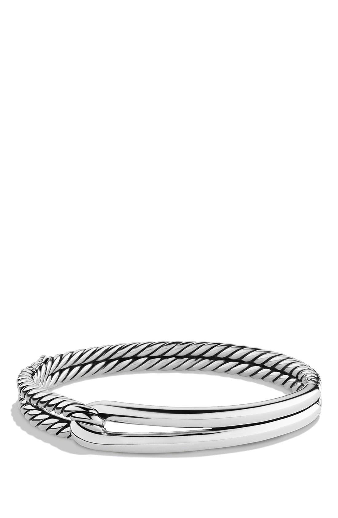 'Labyrinth' Single Loop Bracelet,                             Main thumbnail 1, color,                             SILVER