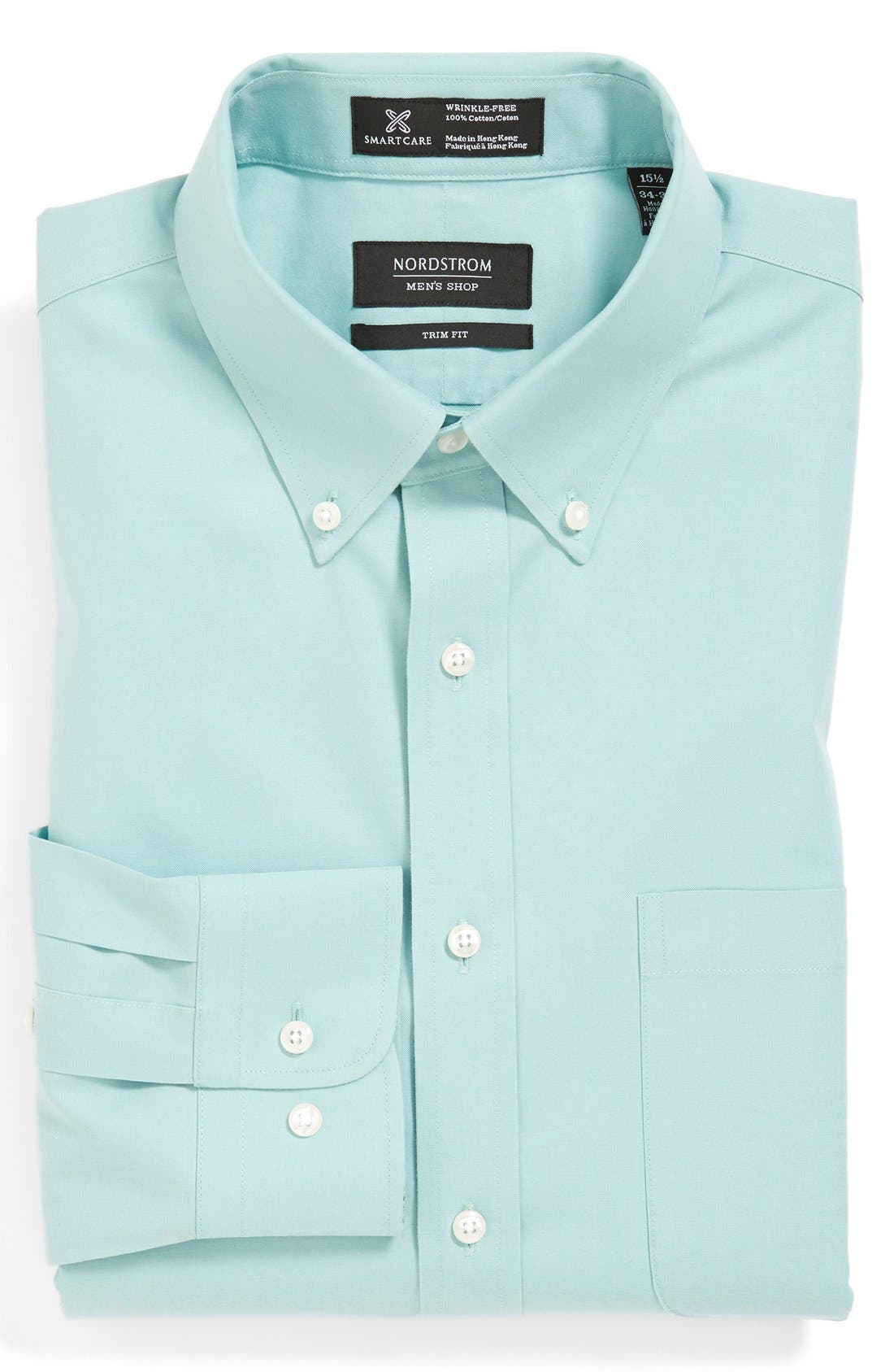 Smartcare<sup>™</sup> Trim Fit Solid Dress Shirt,                             Main thumbnail 8, color,