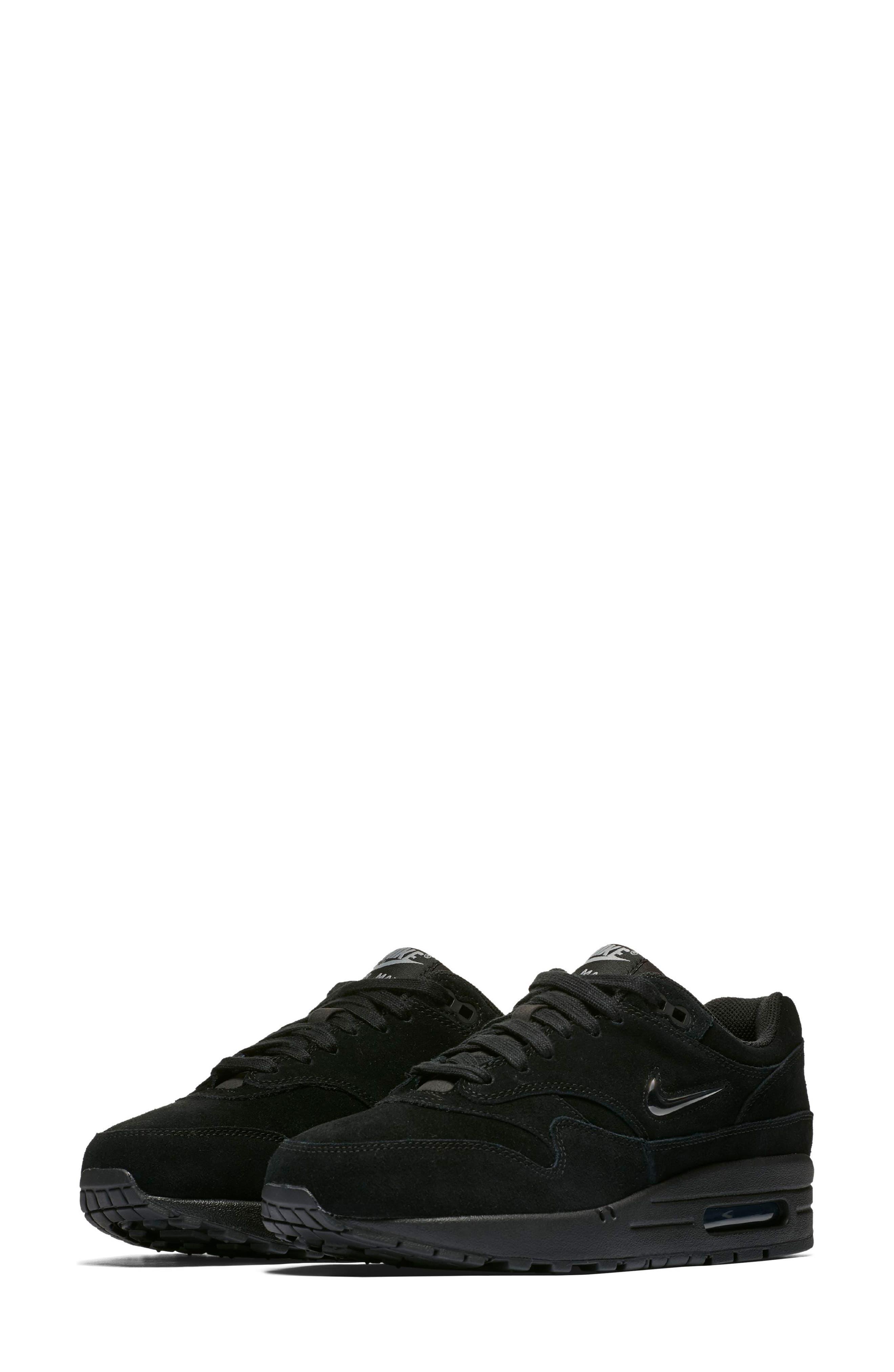 Air Max 1 Premium SC Sneaker,                             Alternate thumbnail 4, color,                             001