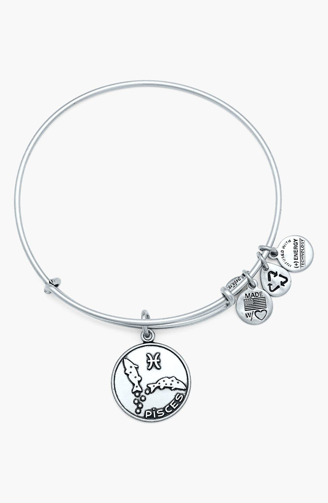 'Pisces' Adjustable Wire Bangle, Main, color, 040