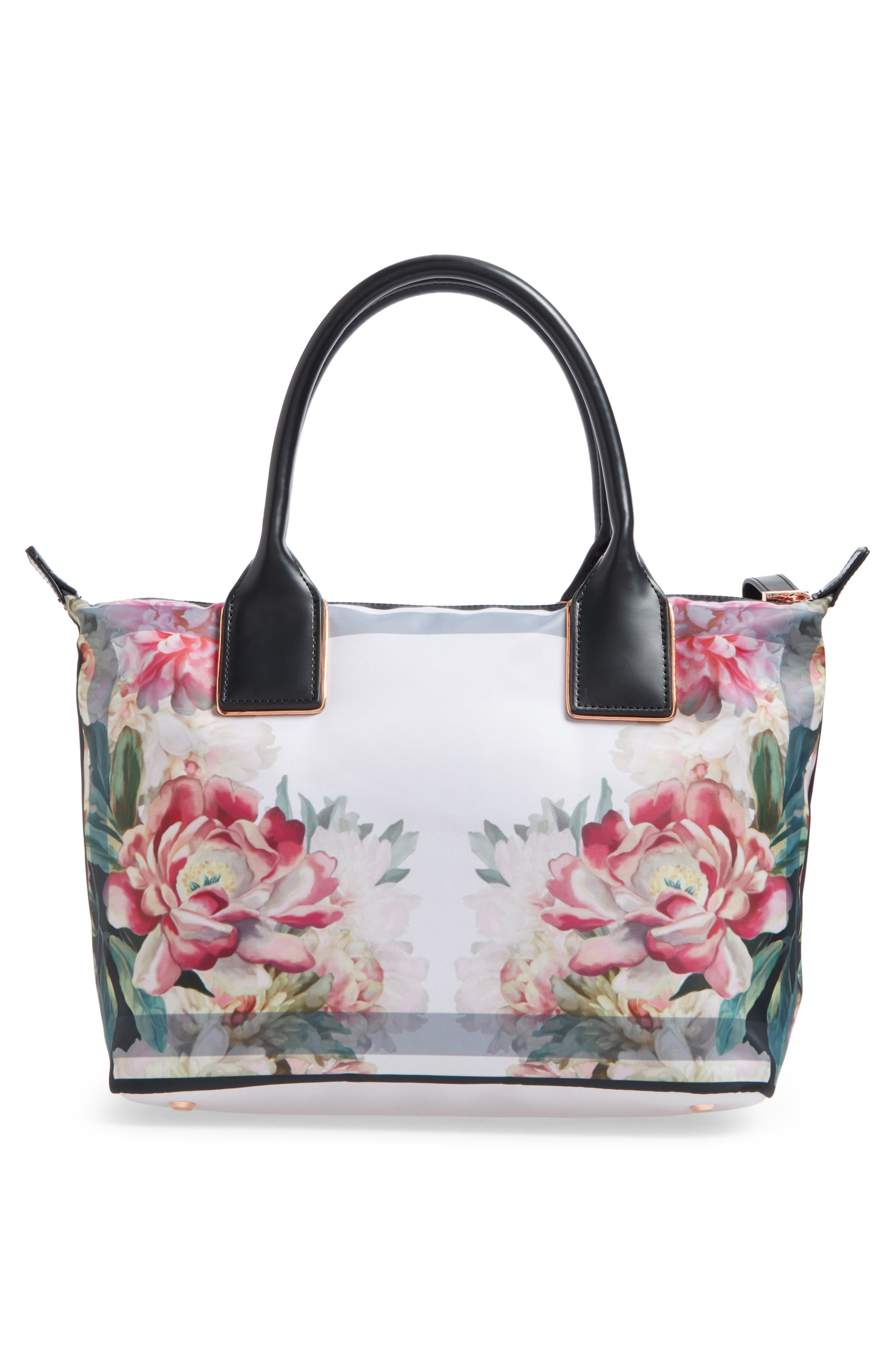 Small Painted Posie Tote,                             Alternate thumbnail 3, color,                             682