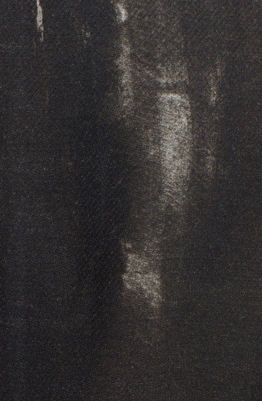 Donna Karan Collection 'Raku Brushstroke' Wool & Silk Jacket,                             Alternate thumbnail 3, color,                             001