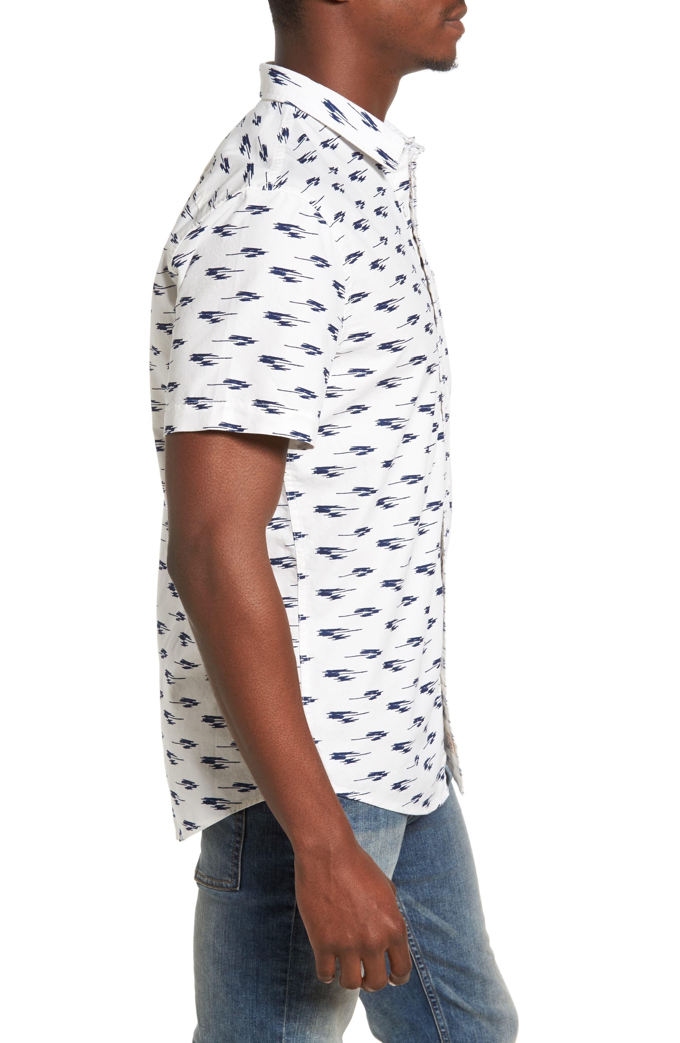 Ikat Oxford Shirt,                             Alternate thumbnail 3, color,