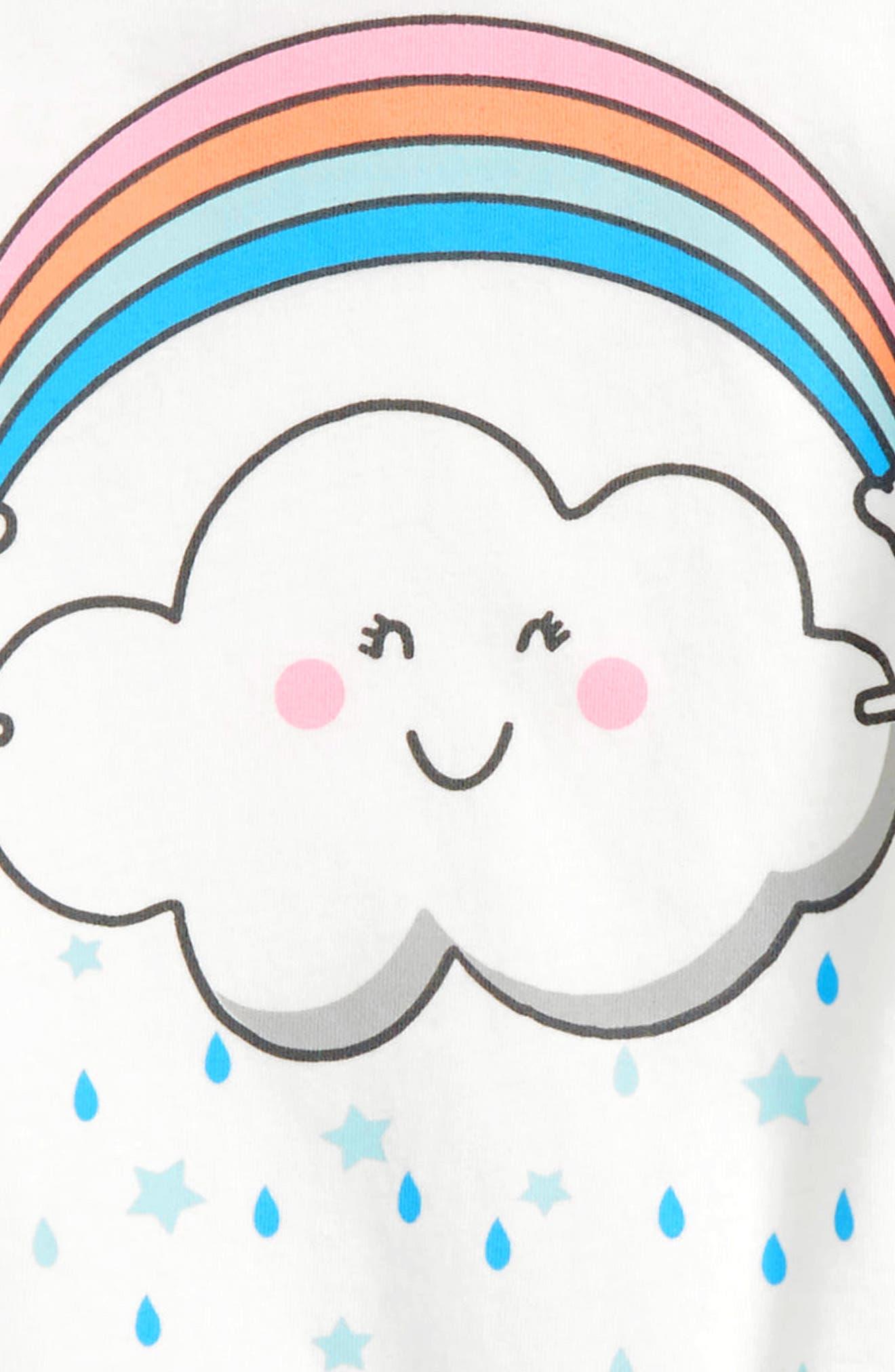 Peek Rainbow Cloud Tee,                             Alternate thumbnail 2, color,                             100