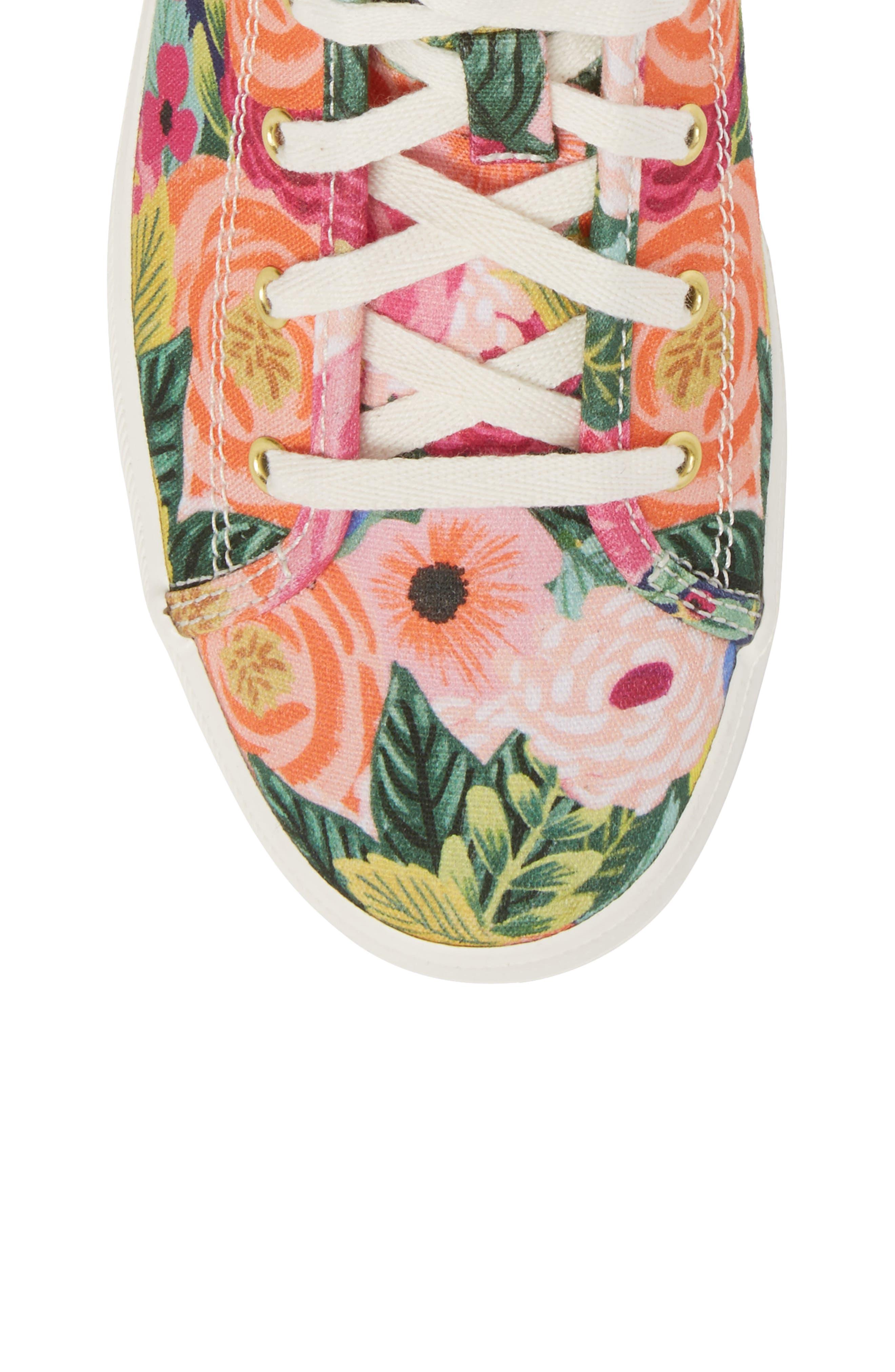 x Rifle Paper Co. Kickstart Julie High Top Sneaker,                             Alternate thumbnail 5, color,                             PINK MULTI