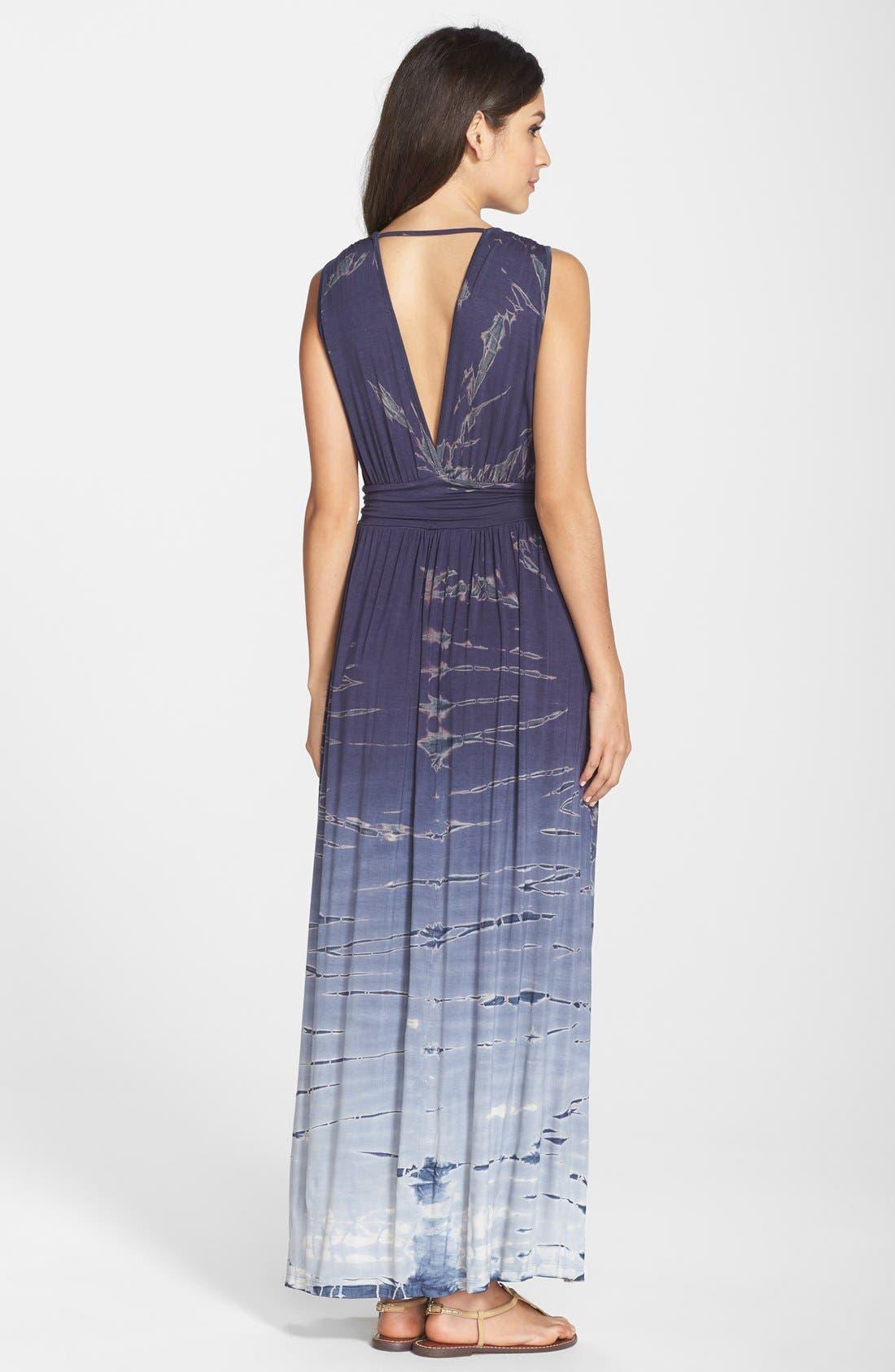 Tie Dye Ombré Jersey Maxi Dress,                             Alternate thumbnail 7, color,                             400