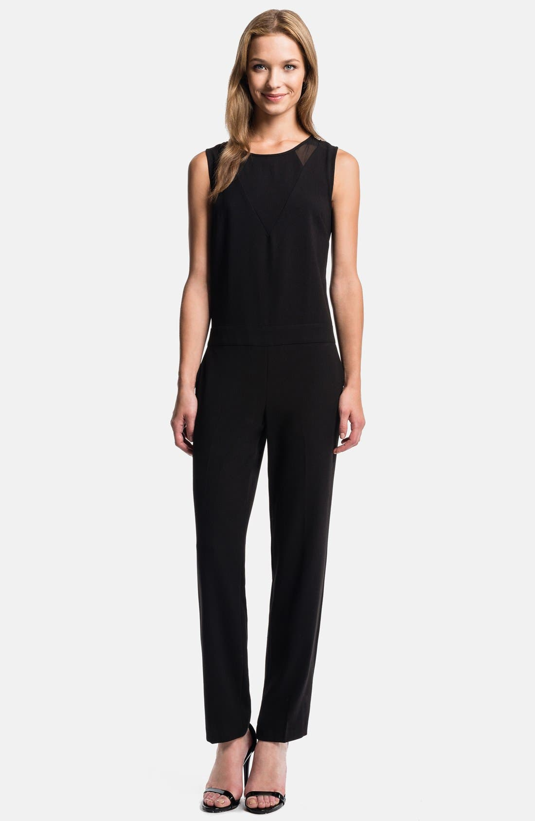 Sleeveless Inset Jumpsuit,                         Main,                         color, 060