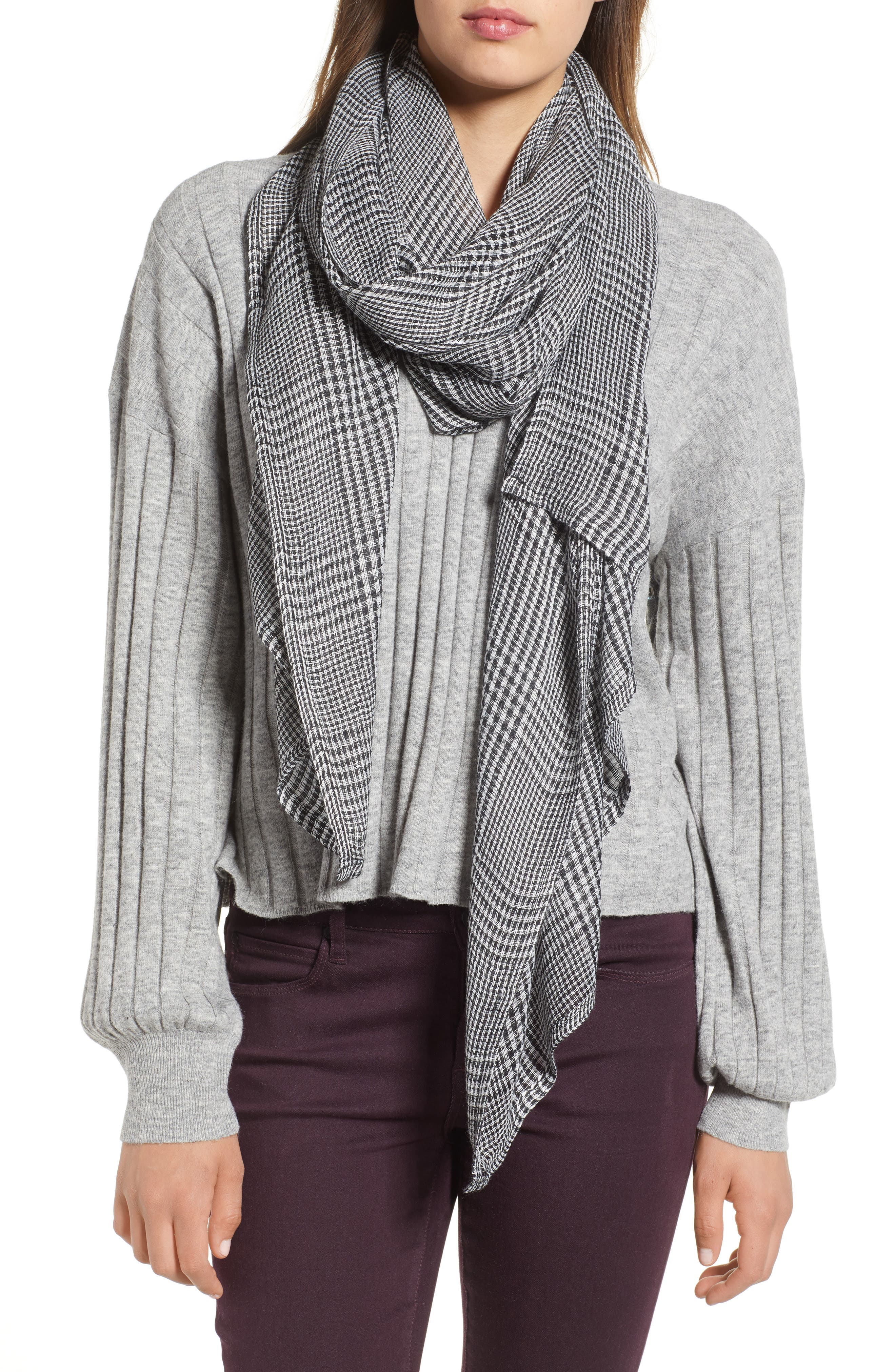 Menswear Plaid Oblong Scarf,                         Main,                         color, 020