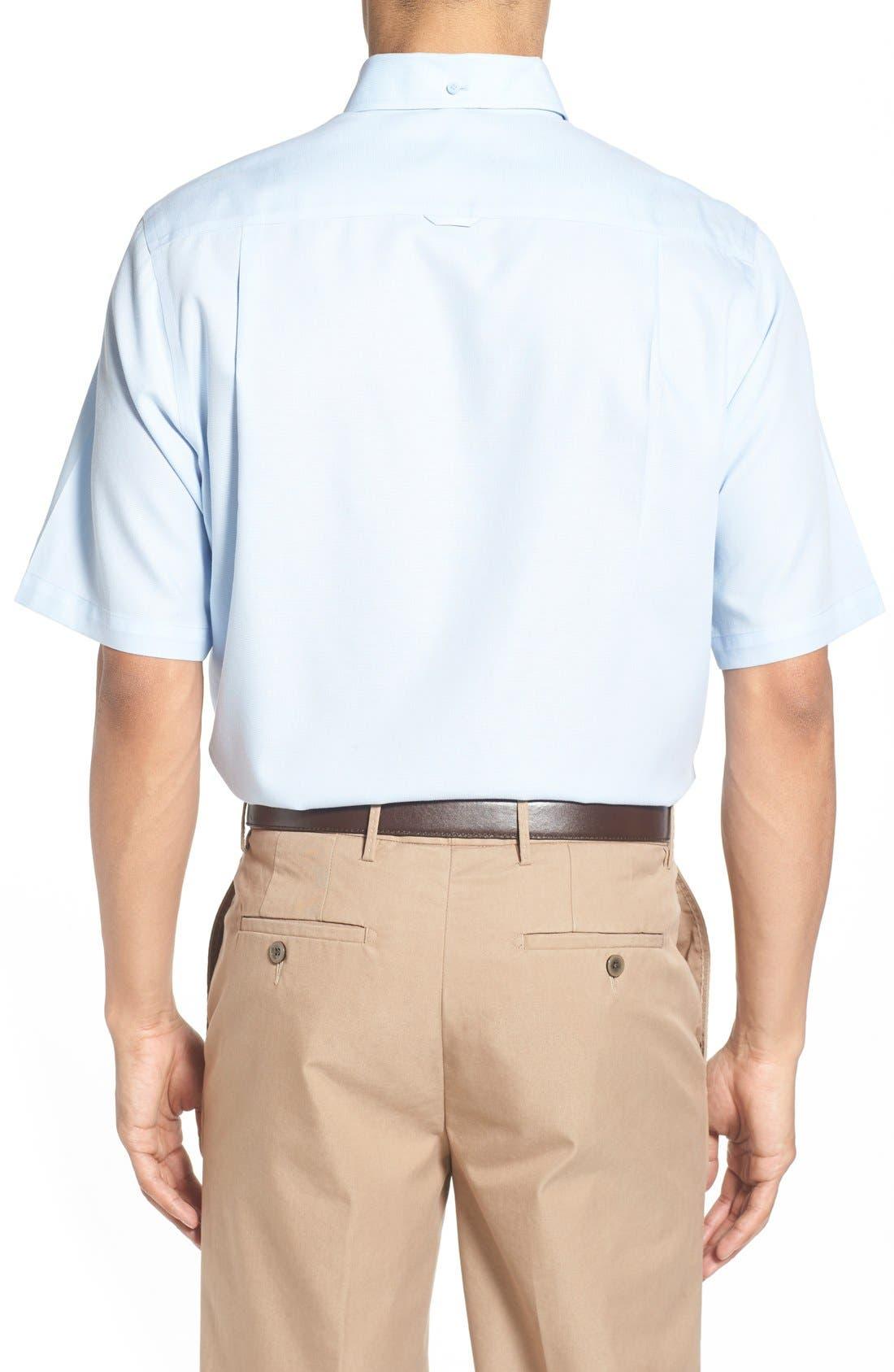 'Classic' Smartcare<sup>™</sup> Regular Fit Short Sleeve Cotton Sport Shirt,                             Alternate thumbnail 74, color,
