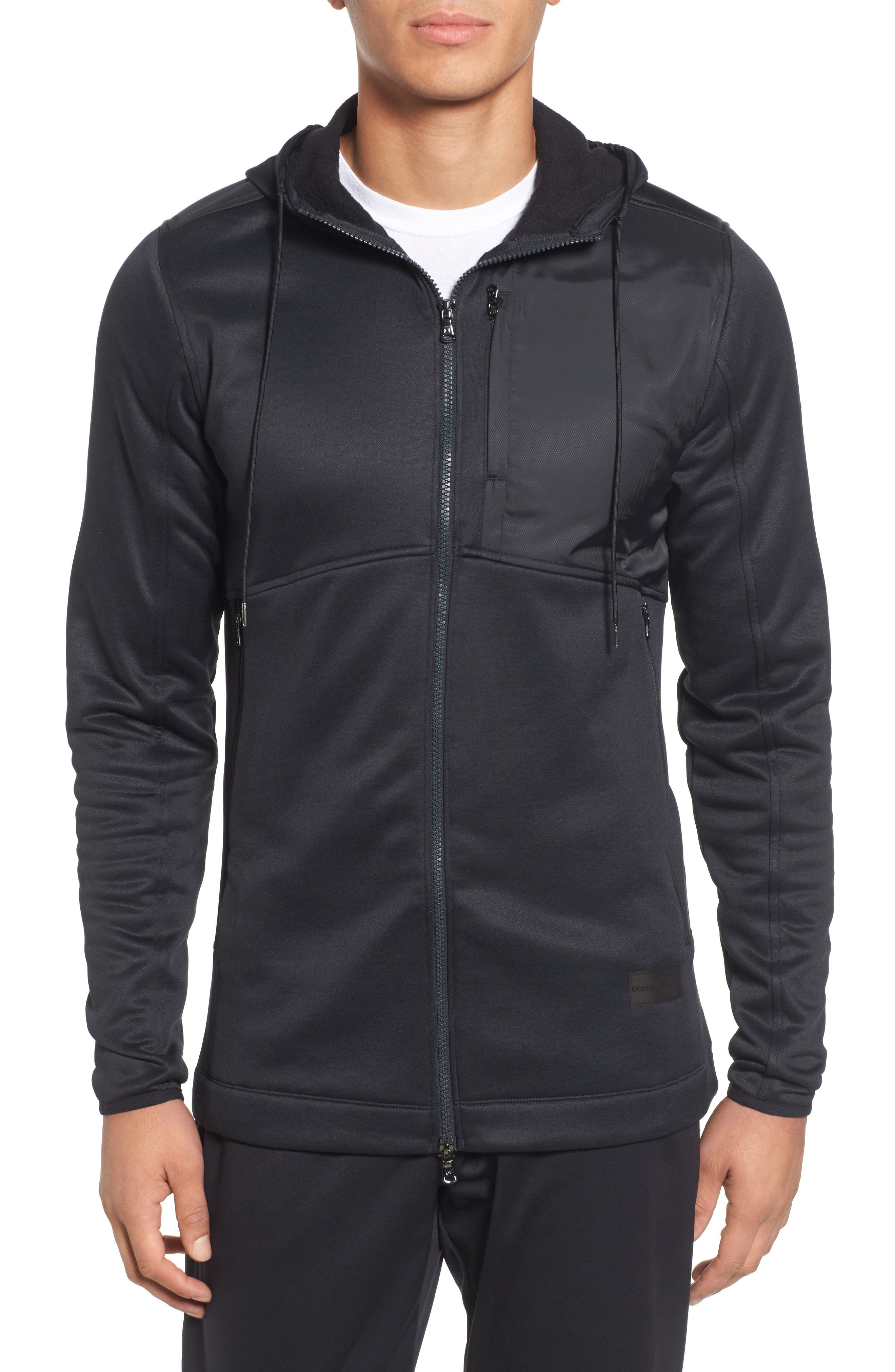 Courtside Stealth Zip Hoodie,                             Main thumbnail 1, color,