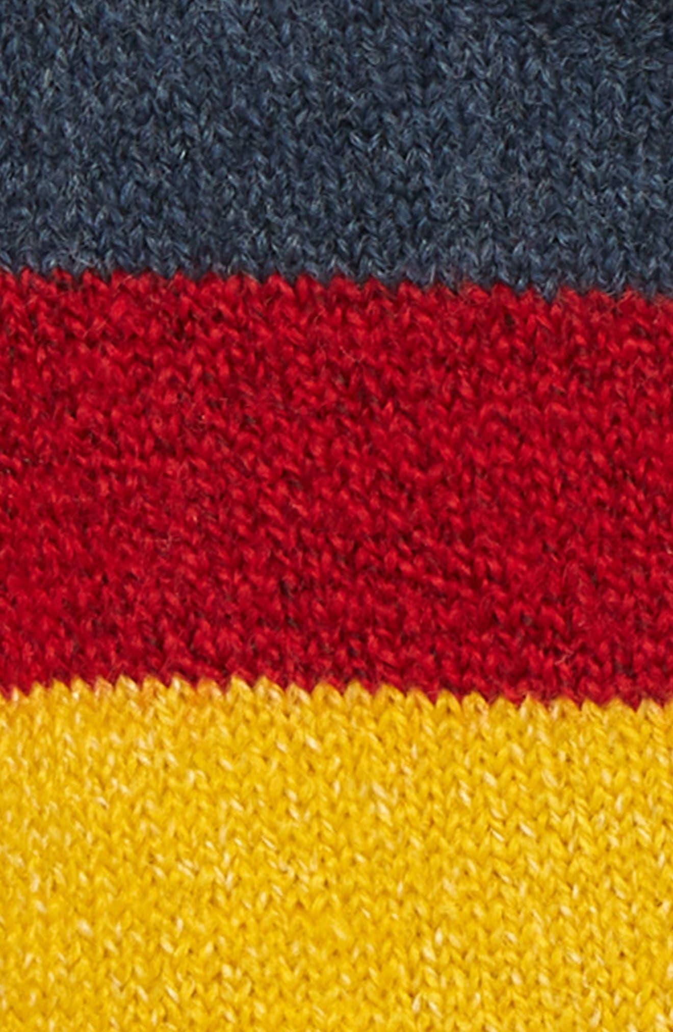 Bold Stripe Sweater,                             Alternate thumbnail 2, color,                             NAVY DENIM MULTI STRIPE