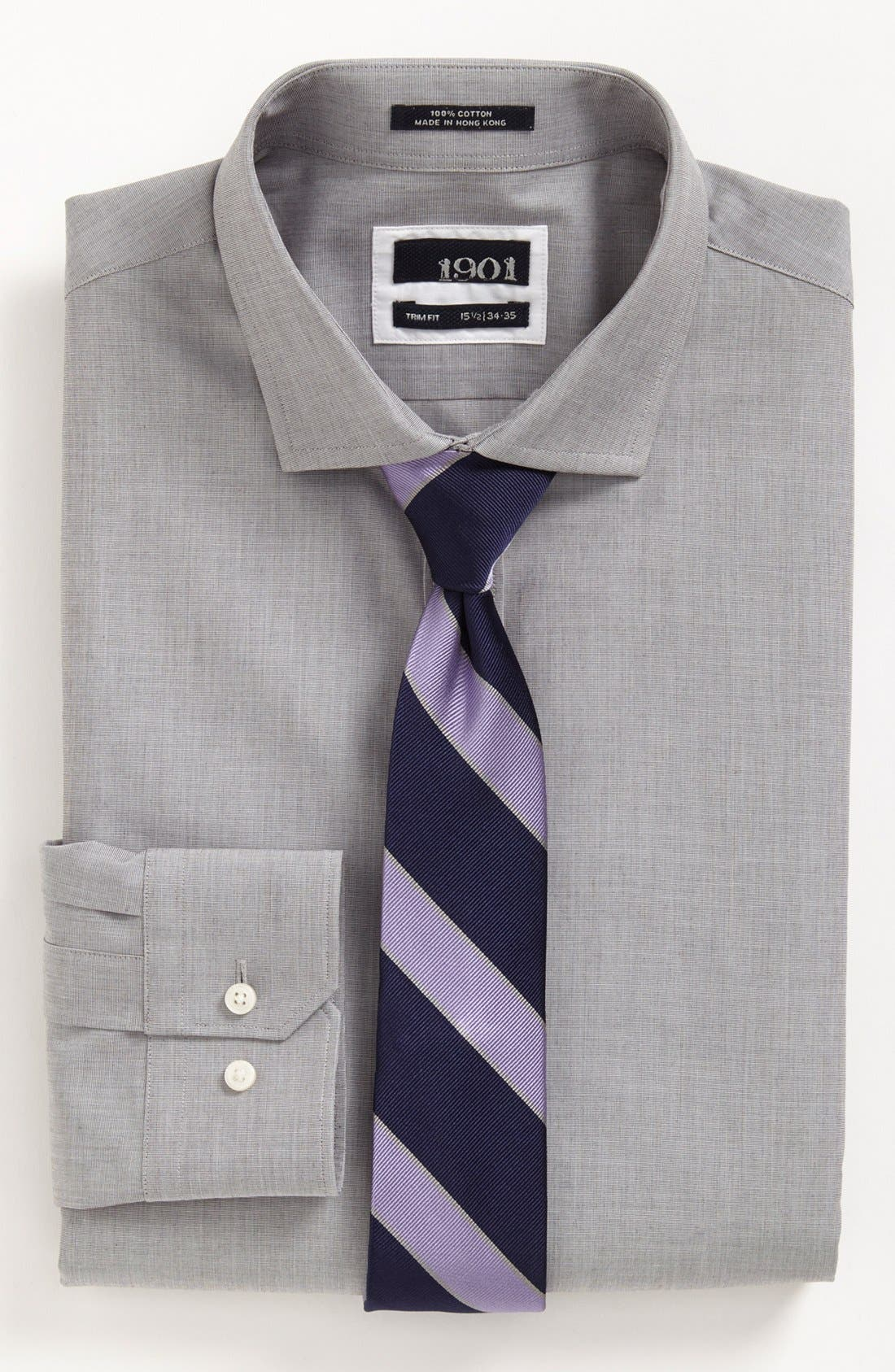 1901 Dress Shirt & Tie,                             Alternate thumbnail 2, color,                             020