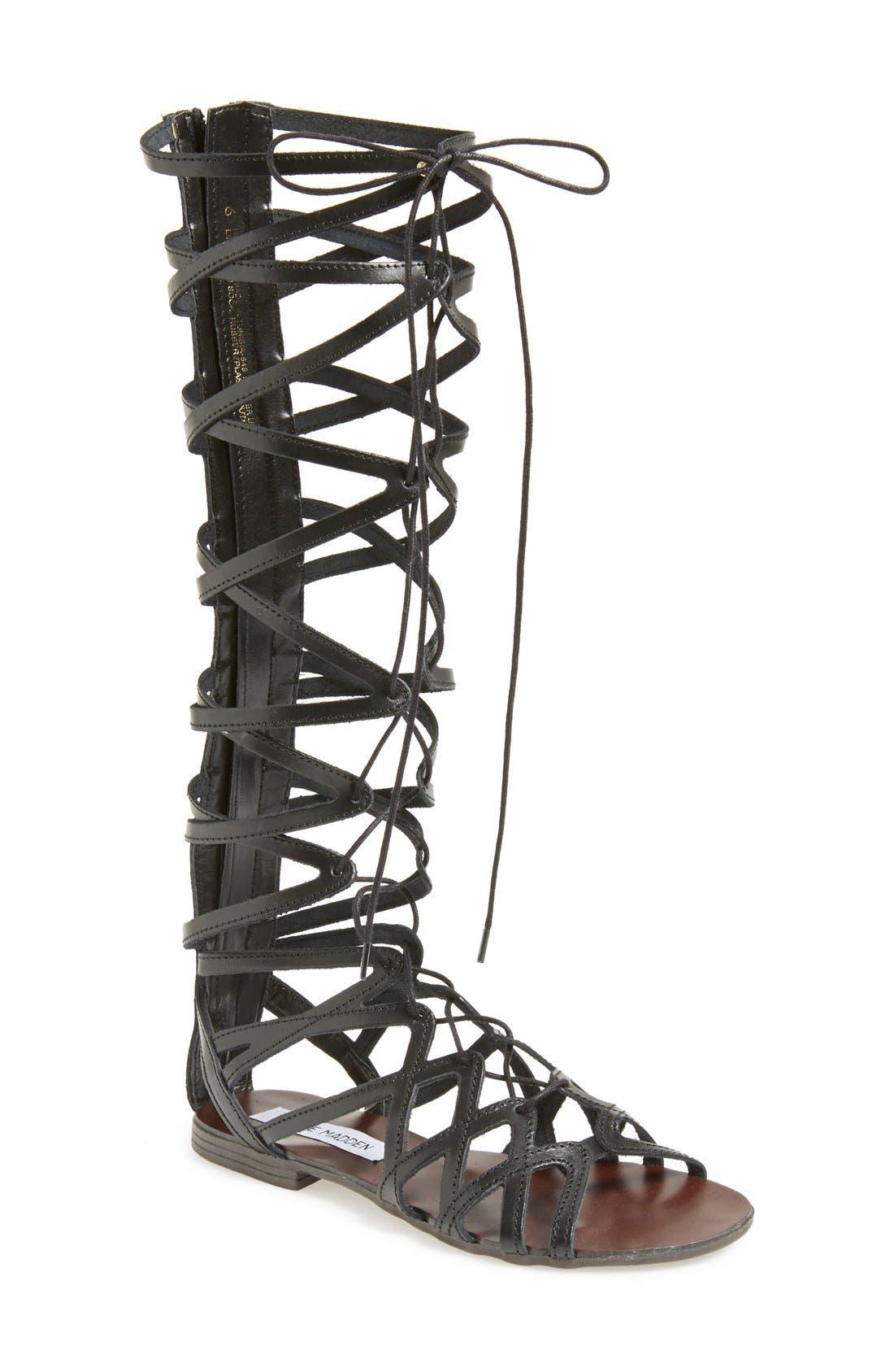 'Hercules' Gladiator Sandal,                             Main thumbnail 1, color,                             001