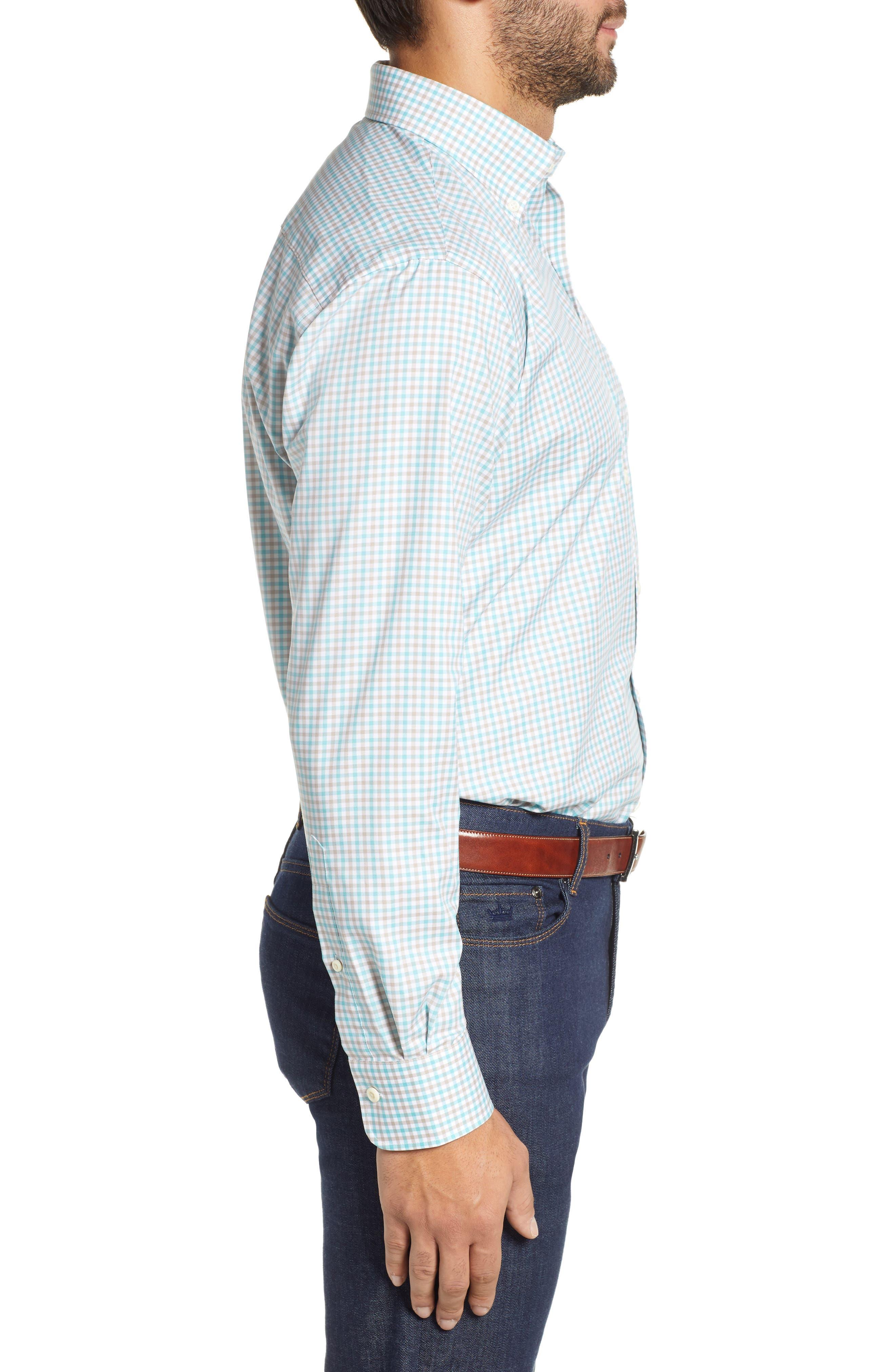 Crown Ease Marketplace Regular Fit Check Sport Shirt,                             Alternate thumbnail 4, color,                             GREEN