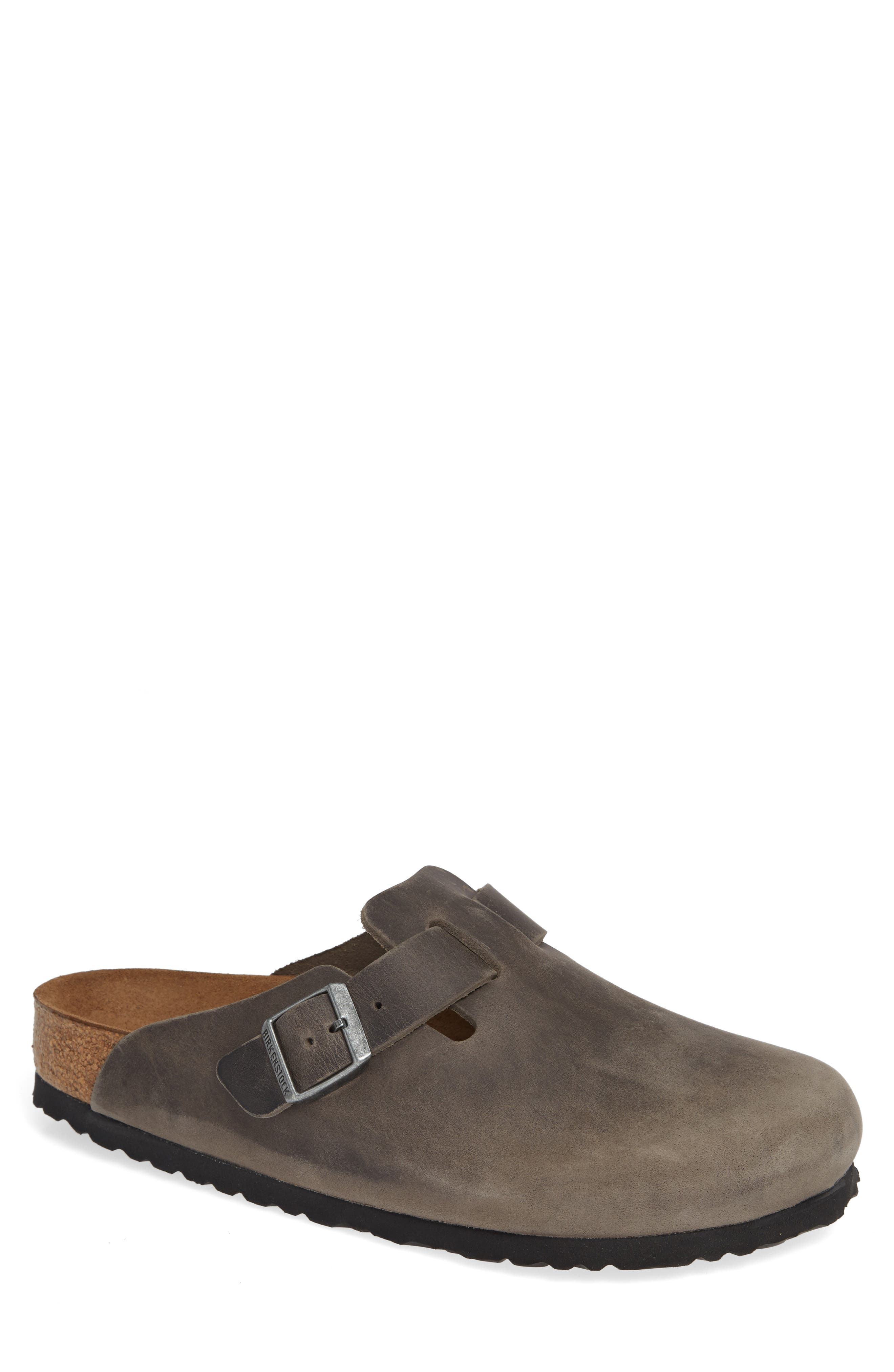 Birkenstock Boston Soft Clog,8.5 - Grey