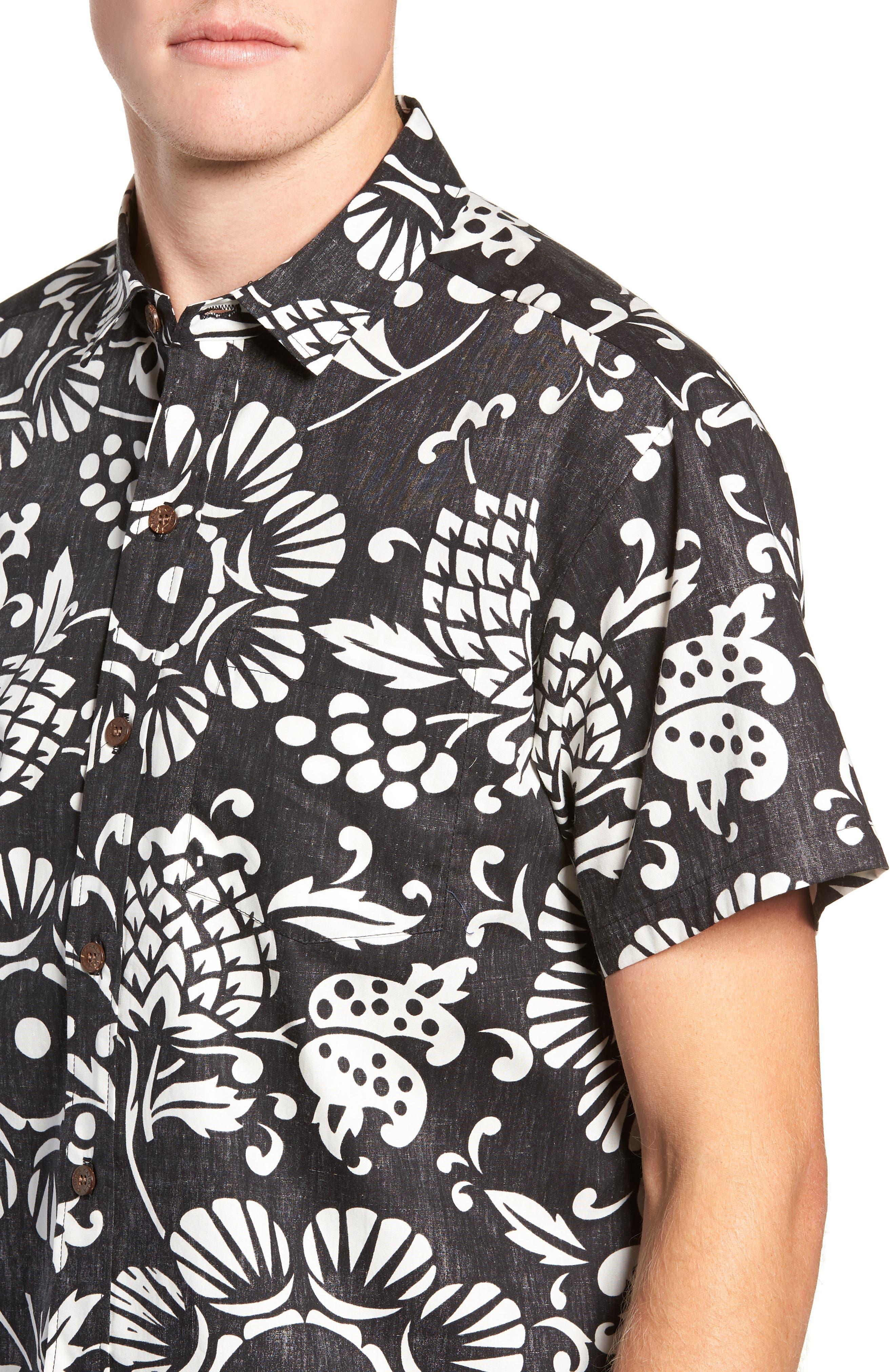 Duke's Pareo Trim Fit Sport Shirt,                             Alternate thumbnail 2, color,                             001