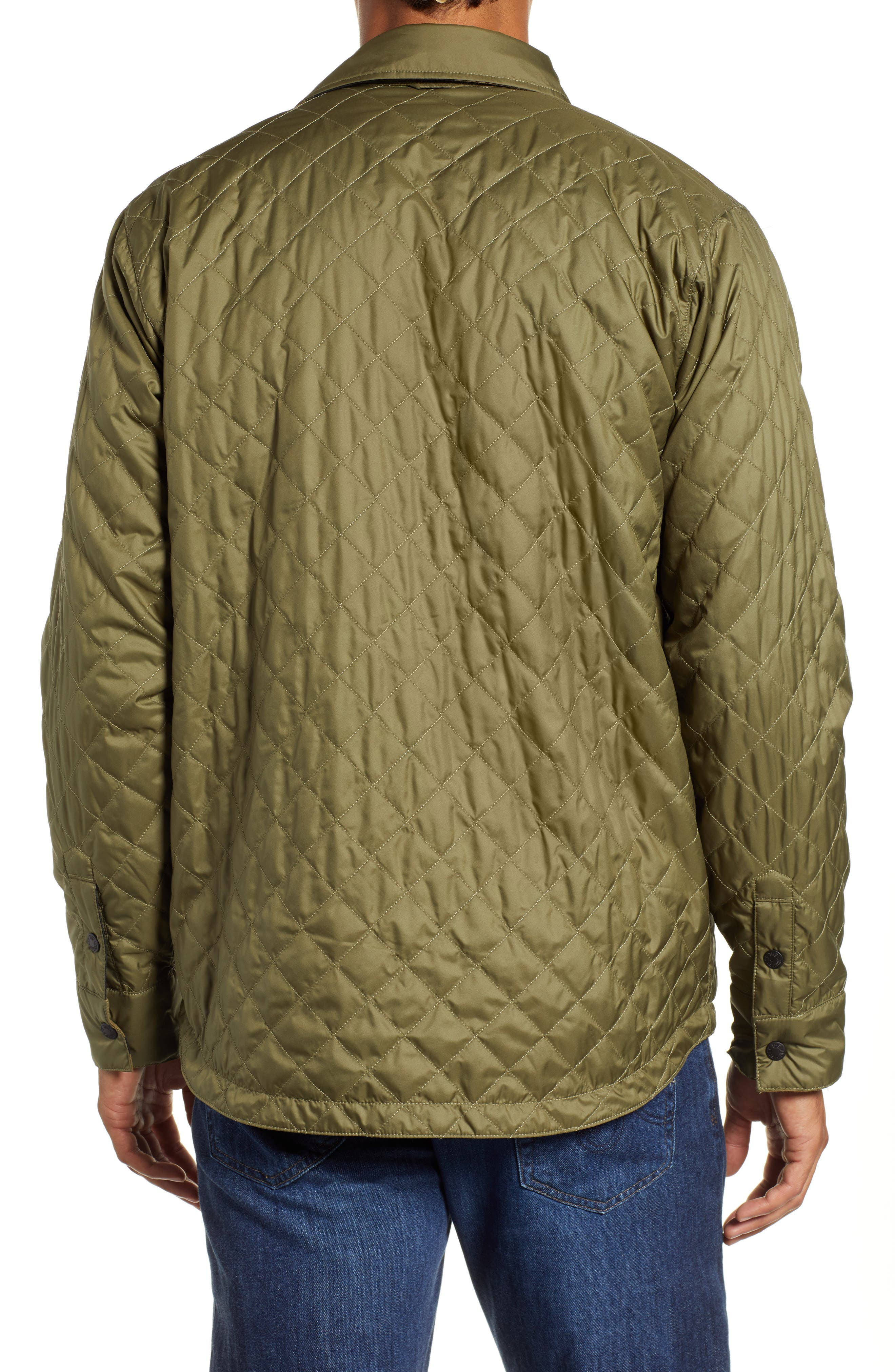 Fort Point Insulated Shirt Jacket,                             Alternate thumbnail 3, color,                             BURNT OLIVE GREEN