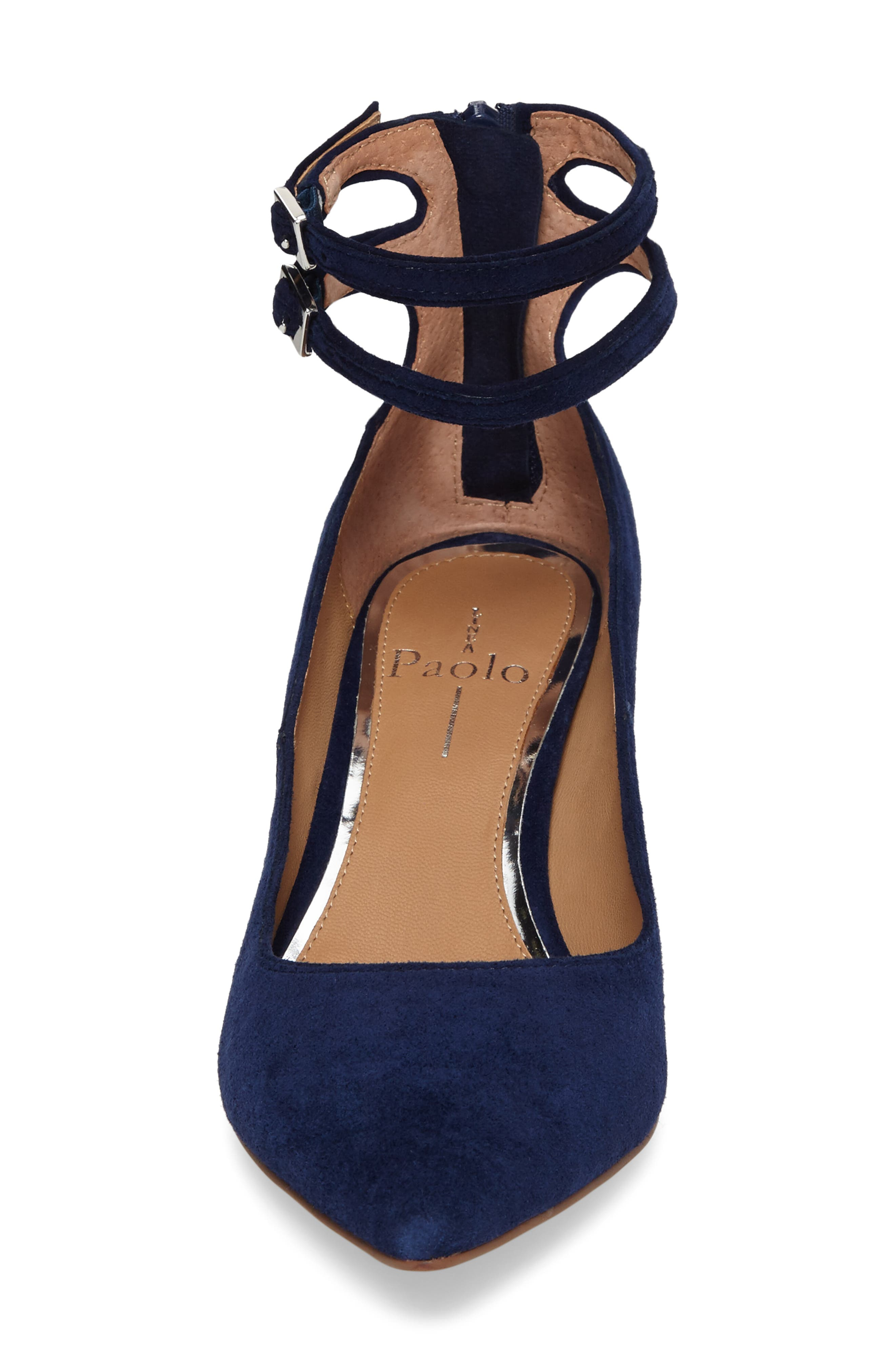 'Noel' Pointy Toe Ankle Strap Pump,                             Alternate thumbnail 4, color,                             412