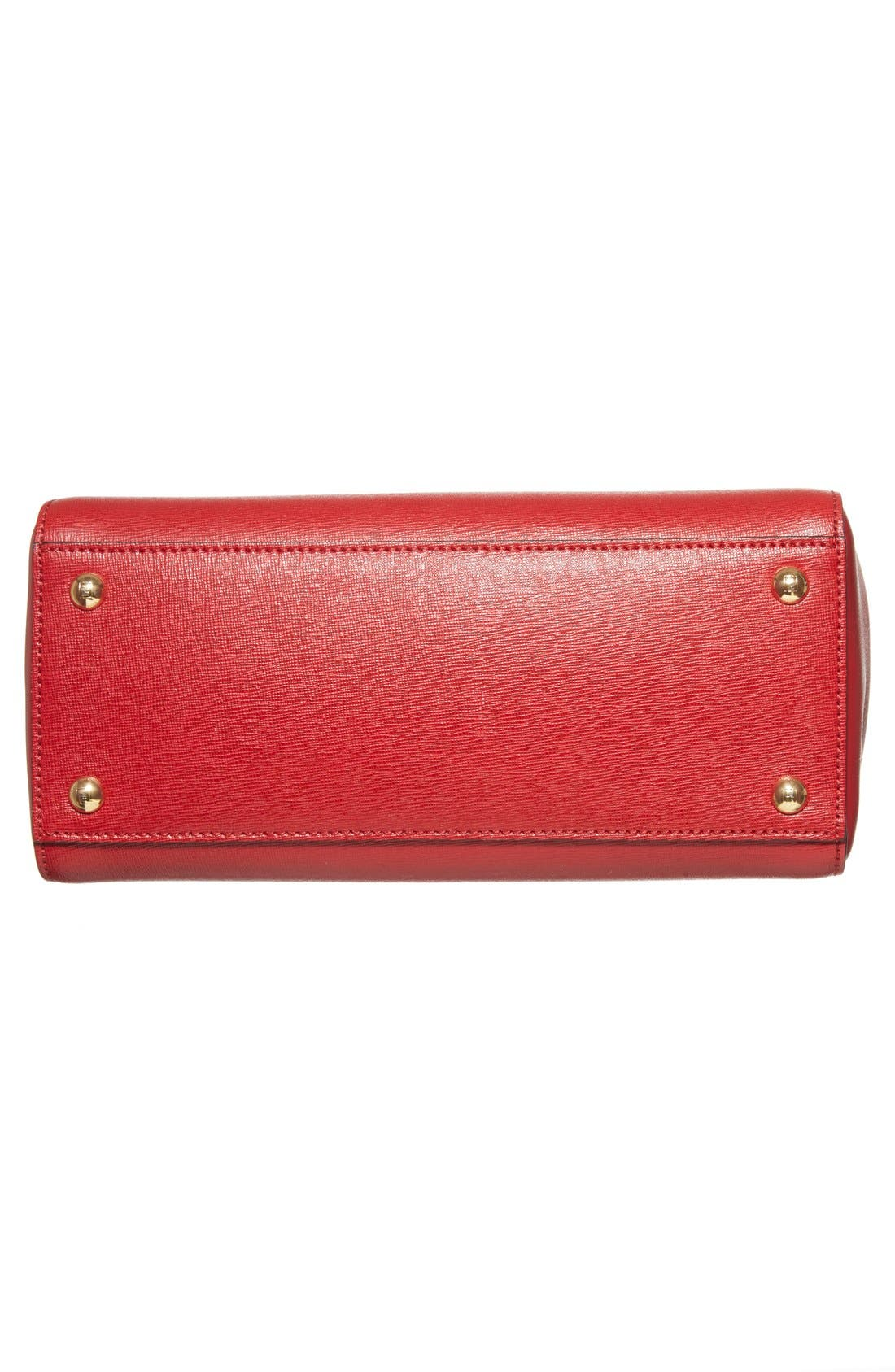 'Petite 2Jours Elite' Leather Shopper,                             Alternate thumbnail 105, color,