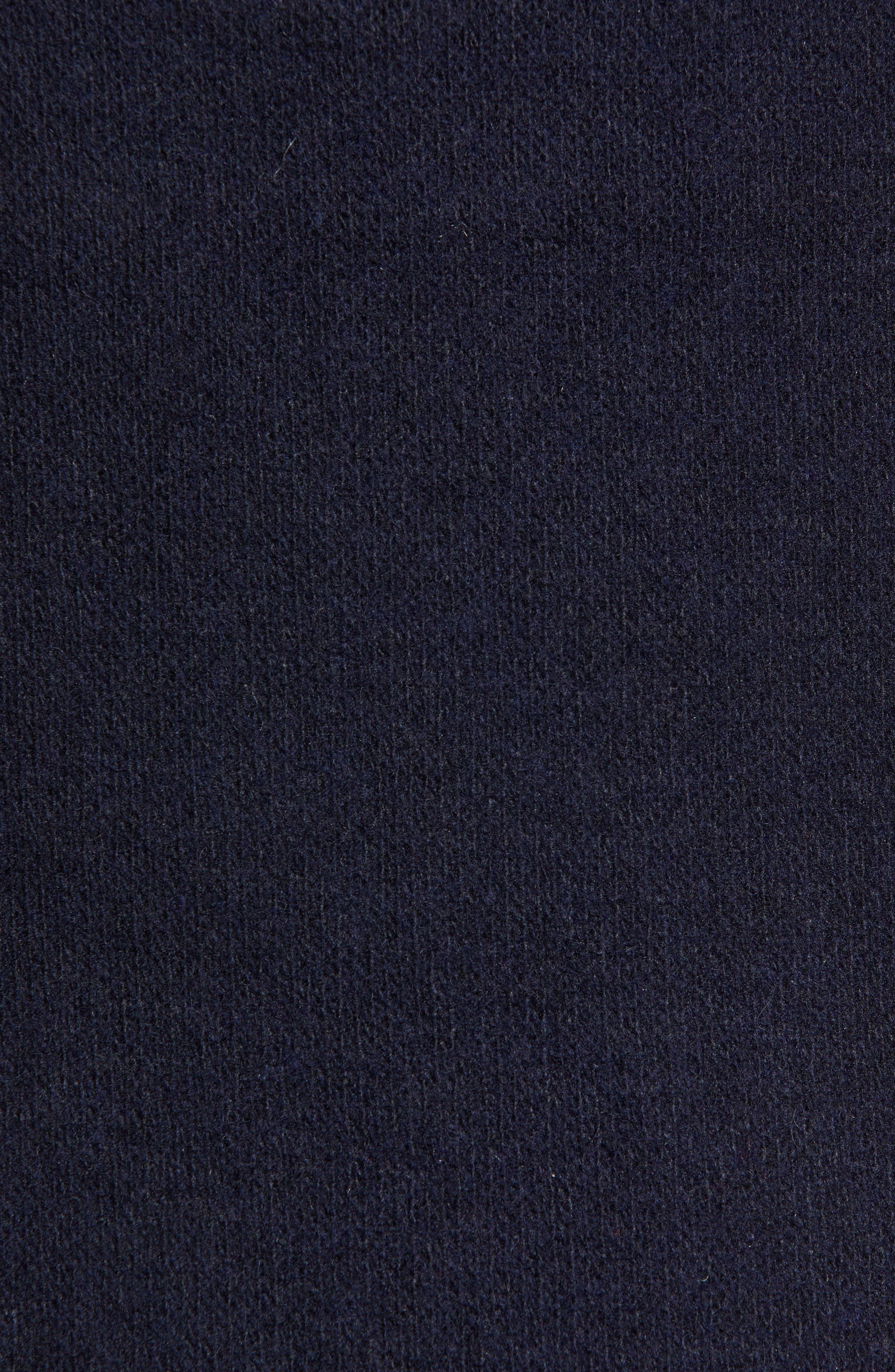 Casil Mixed Media Duffle Coat,                             Alternate thumbnail 6, color,                             BLUE