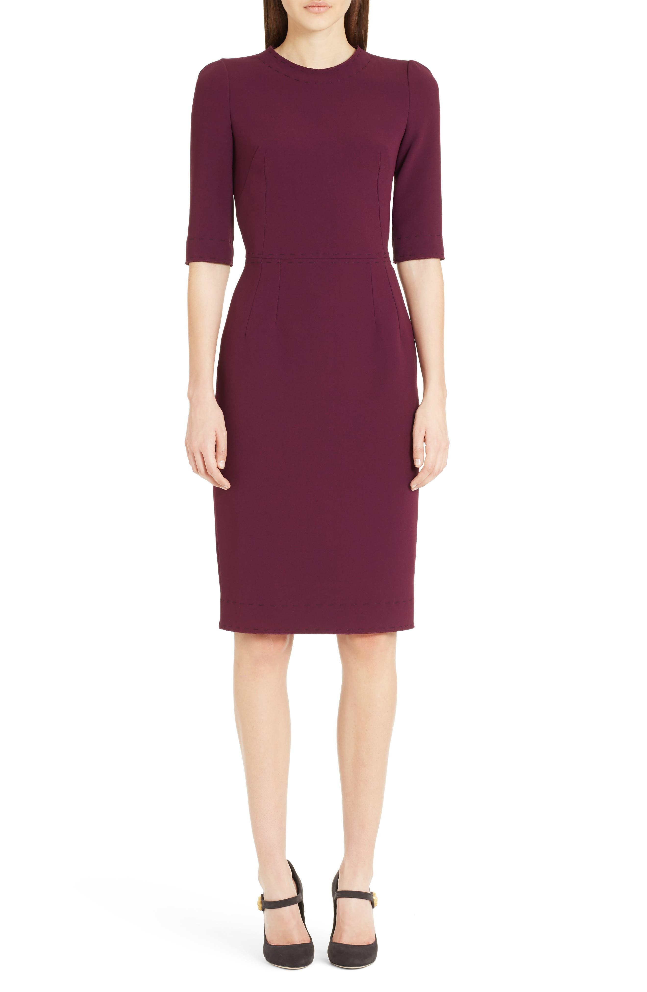 Stretch Cady Sheath Dress,                             Alternate thumbnail 10, color,