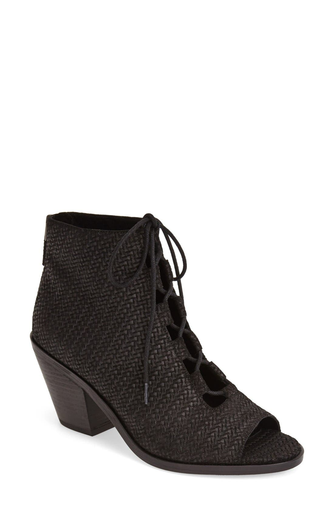 'Slew' Lace Up Bootie,                             Main thumbnail 1, color,                             001