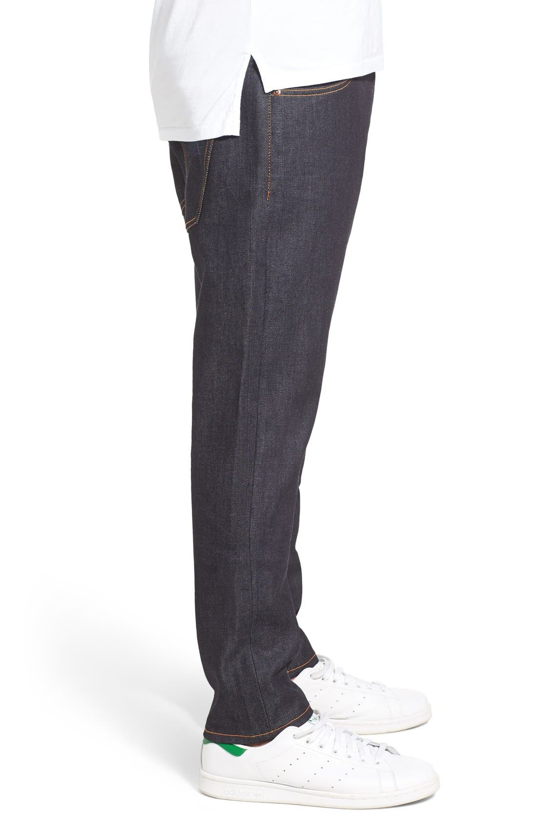 'Brute Knut' Slouchy Slim Fit Selvedge Jeans,                             Alternate thumbnail 3, color,                             411