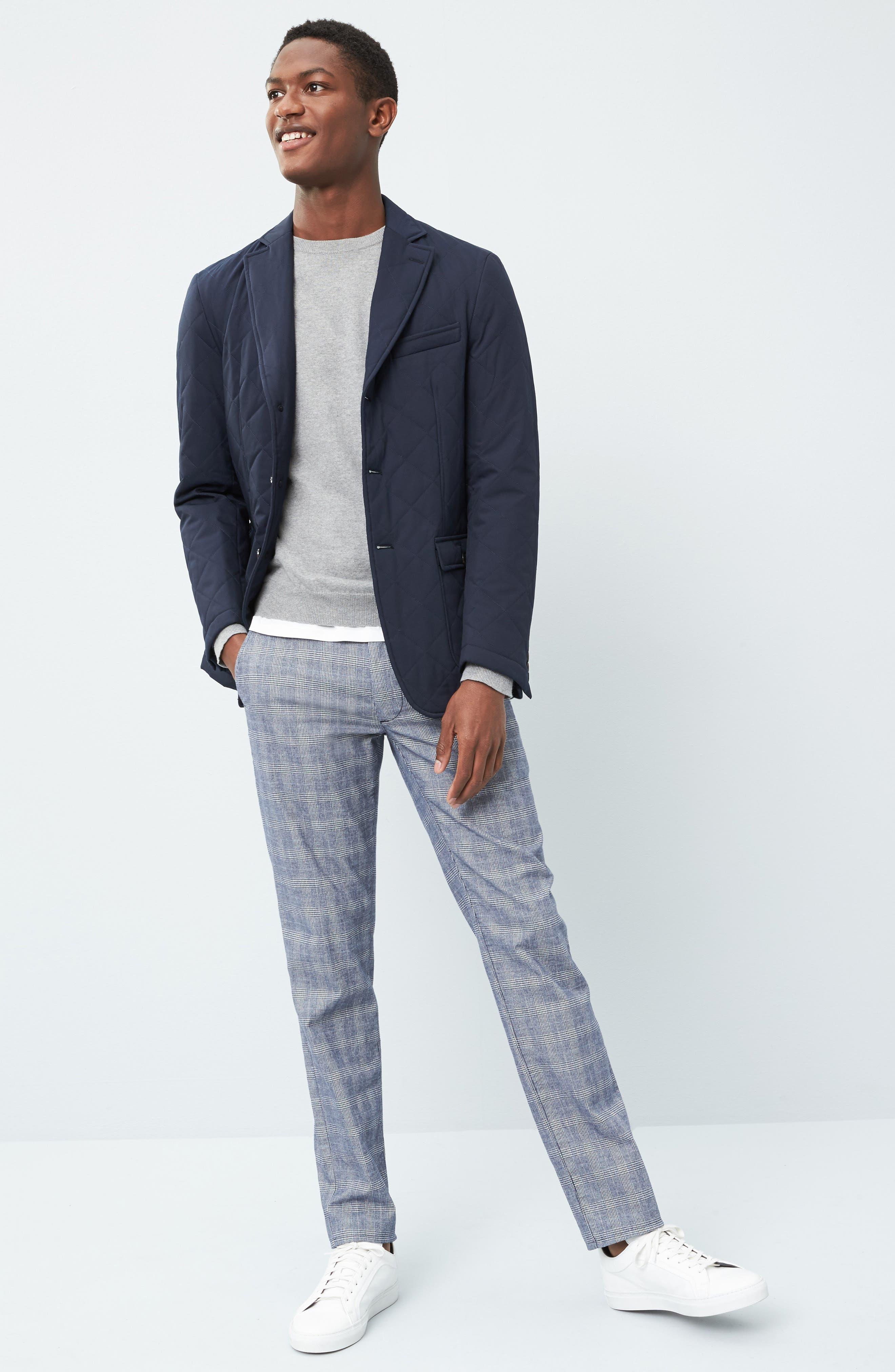 Jay Trim Fit Plaid Wool Sport Coat,                             Alternate thumbnail 8, color,